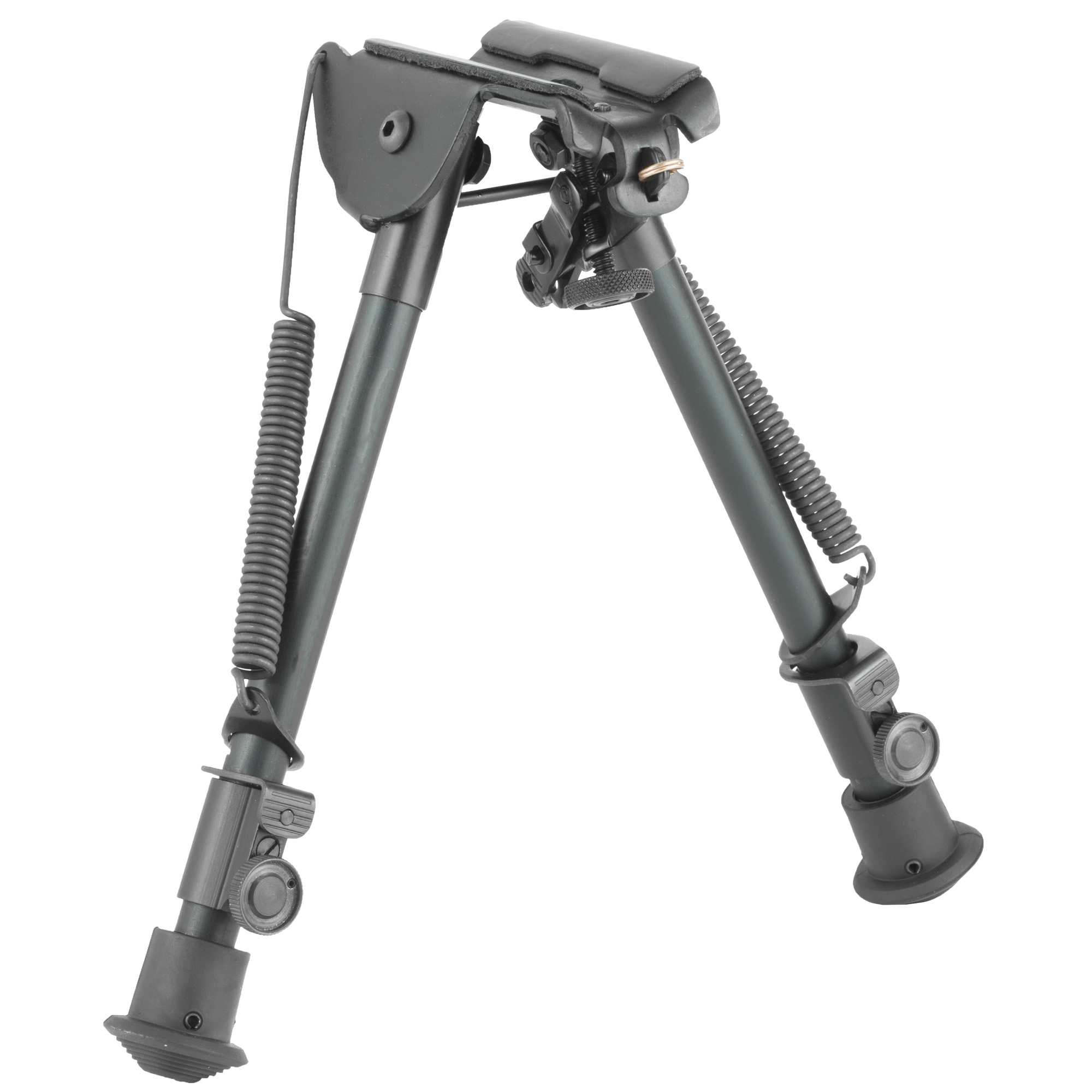 """Harris Engineering's 9""""-13"""" High Ultra-Light Fixed Bipod is manufactured using high quality parts to ensure excellent function and sustainable use. It attaches to a Sling Swivel Stud. The bipod features an anodized matte black finish."""