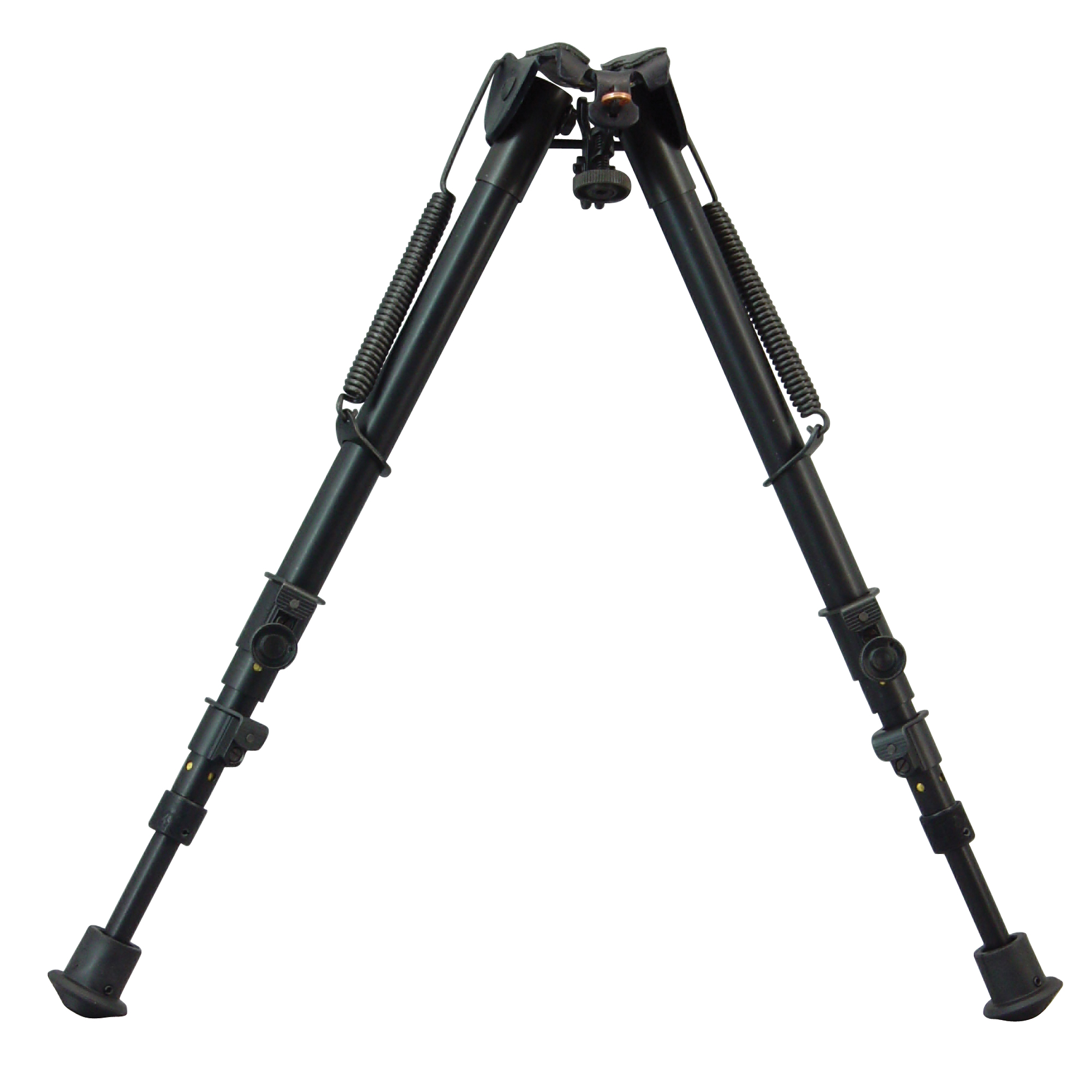 """Harris Engineering's Ultra-Light 13""""-27"""" Rotating Bipod is manufactured with heat treated steel and hard alloys. It clamps to the Q.D. stud of most bolt action rifles that have a conventional stock design. Carrying your rifle with a sling or shooting off-hand is not impeded by the use of a Harris Bipod. Folding legs have completely adjustable spring-return extensions (Except for Model BRM and LM)."""