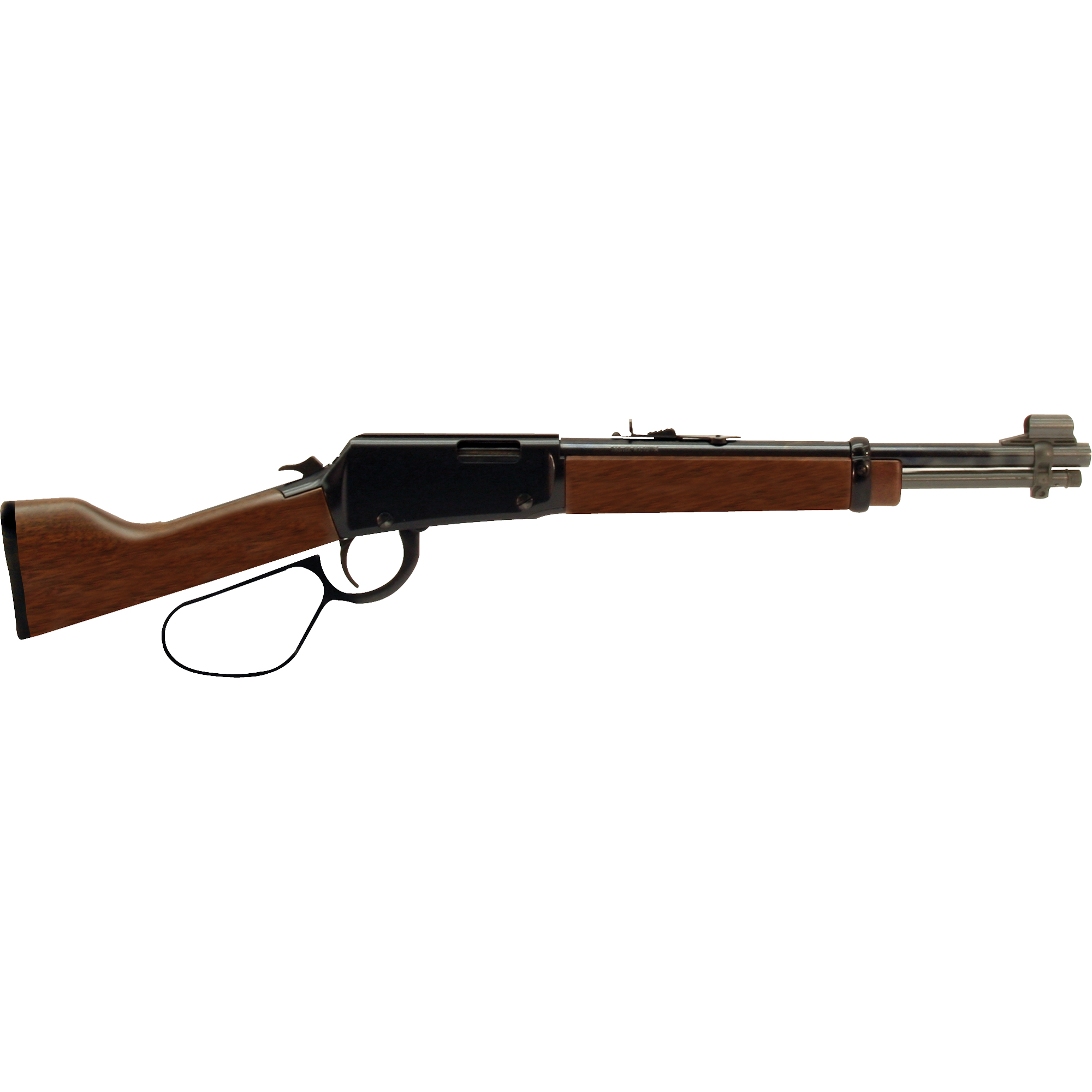 """This Henry Mare's Leg is a cut-down"""" modified variation of the model H001 Henry Lever Action. The large loop lever"""" coupled with the legendary crisp Henry action"""" makes it easy for you to enjoy those rapid-fire repeating shots Steve McQueen used to take down the bad guys."""