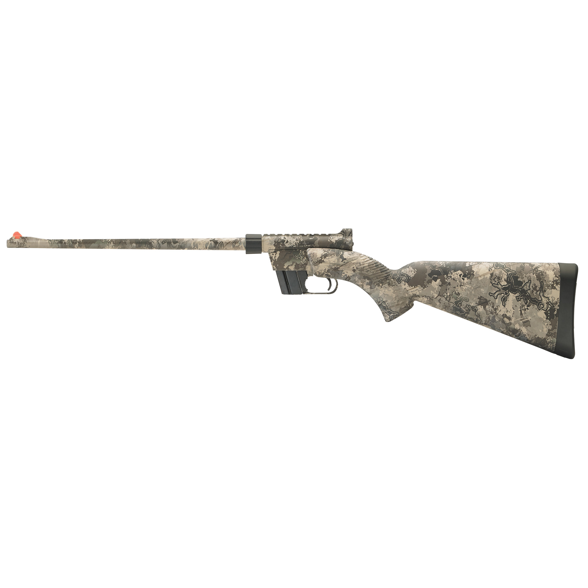 """Like the original Henry U.S. Survival Rifle"""" this innovative"""" semi-automatic model is lightweight (3.5 lbs.) and highly portable. At just 16.5"""" long when all the components are stowed"""" it easily fits into the cargo area of a plane"""" boat or in a backpack. It's chambered in .22 LR so you can carry a large quantity of ammunition without adding much weight to your gear."""