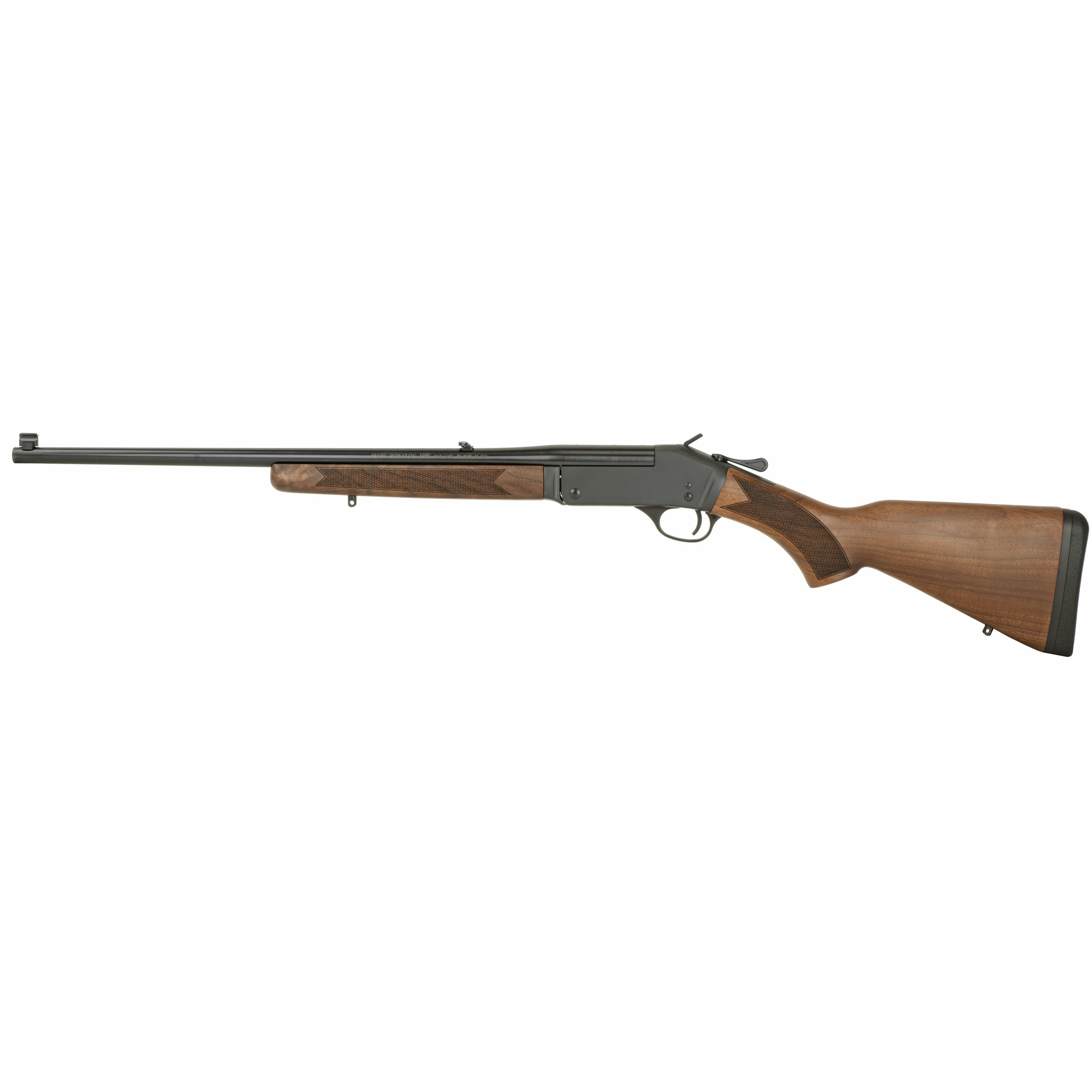 """This elegantly simple rifle features a 20"""" barrel"""" fully adjustable folding leaf rear sight and brass bead front sight. Henry single-shot rifles are quick to load or unload"""" safe to carry"""" and simple to operate."""