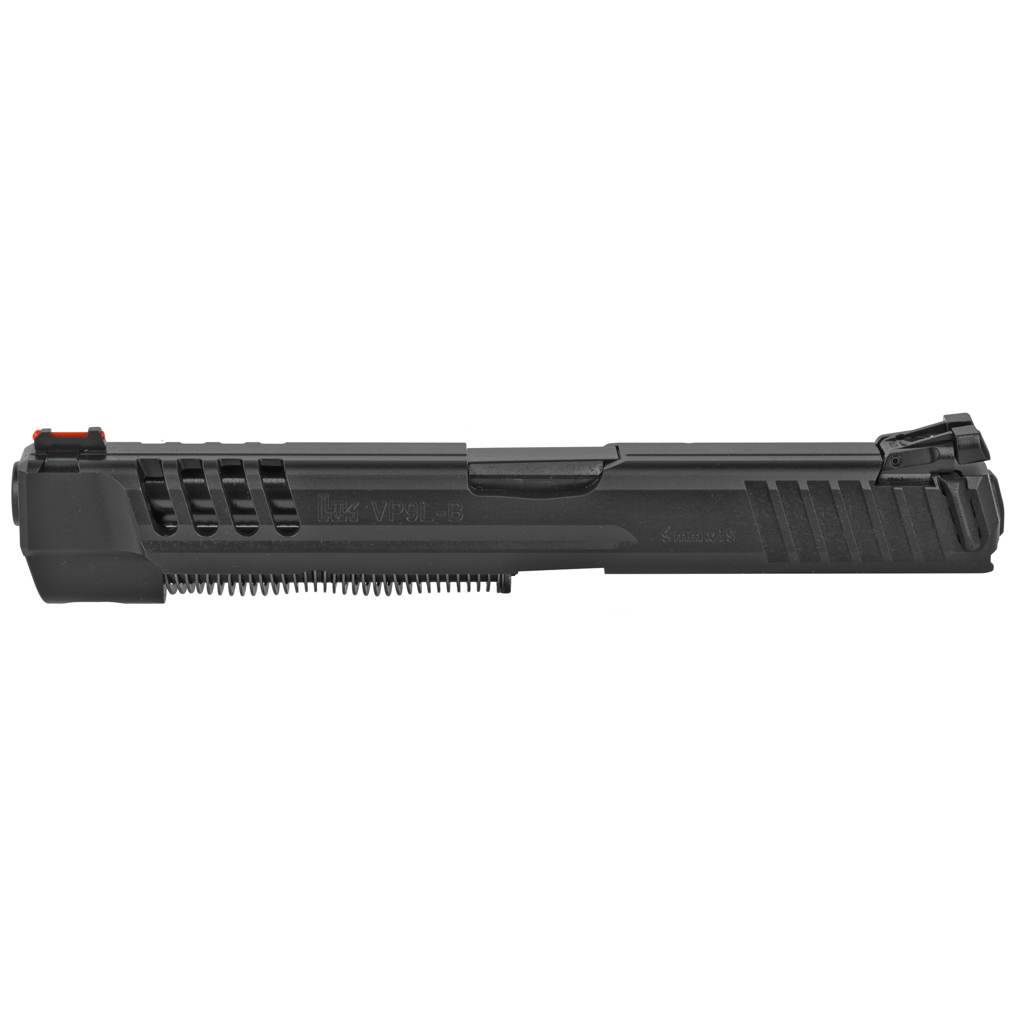 The VP9 long slide kit quickly and easily converts a standard VP9 OR VP9-B to a duty or competition ready long slide model. No additional parts or tools are needed for assembly. Just swap out the whole slide assembly and go shoot.