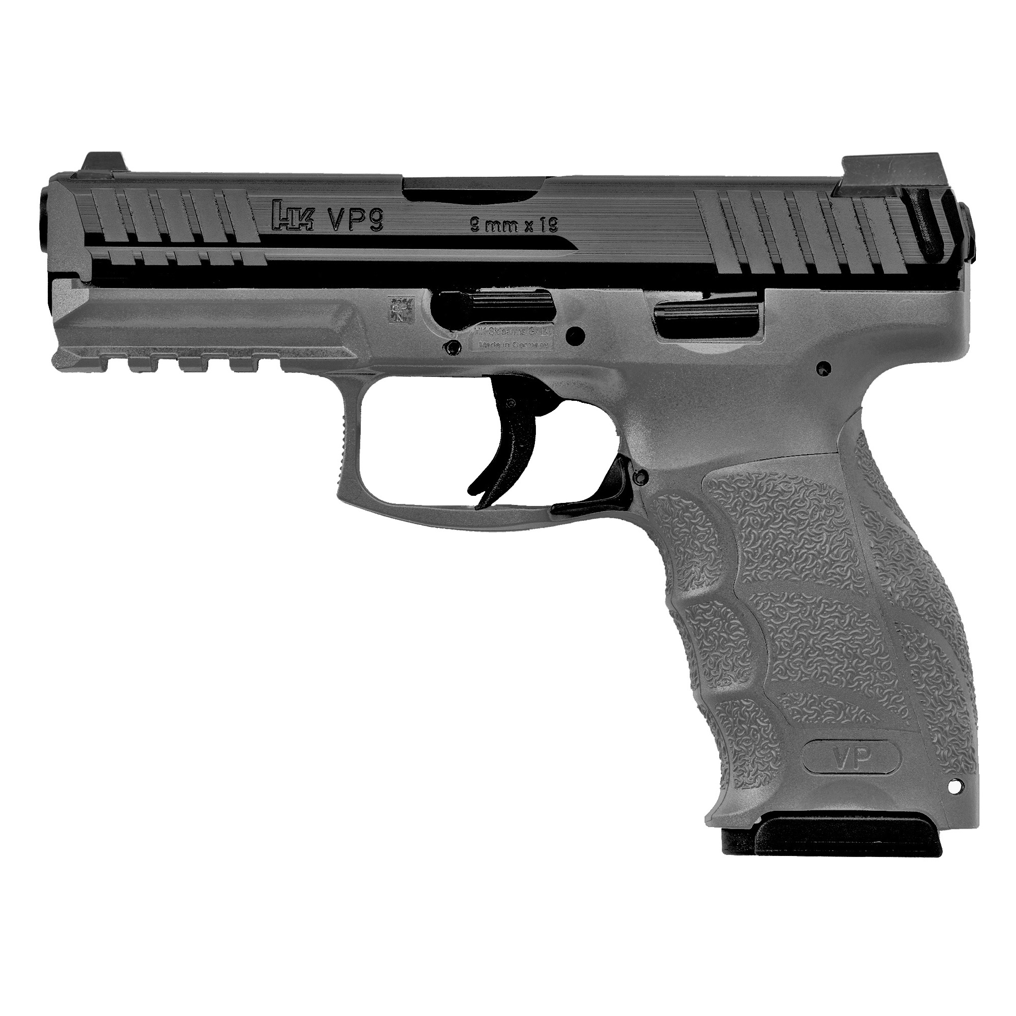 """In development for more than four years"""" the VP9 is Heckler & Koch's latest handgun and the first striker fired HK since the renowned P7 series pistols were introduced in the 1980s. The VP9 is well-suited for civilian sport shooting"""" security"""" military"""" and law enforcement use."""