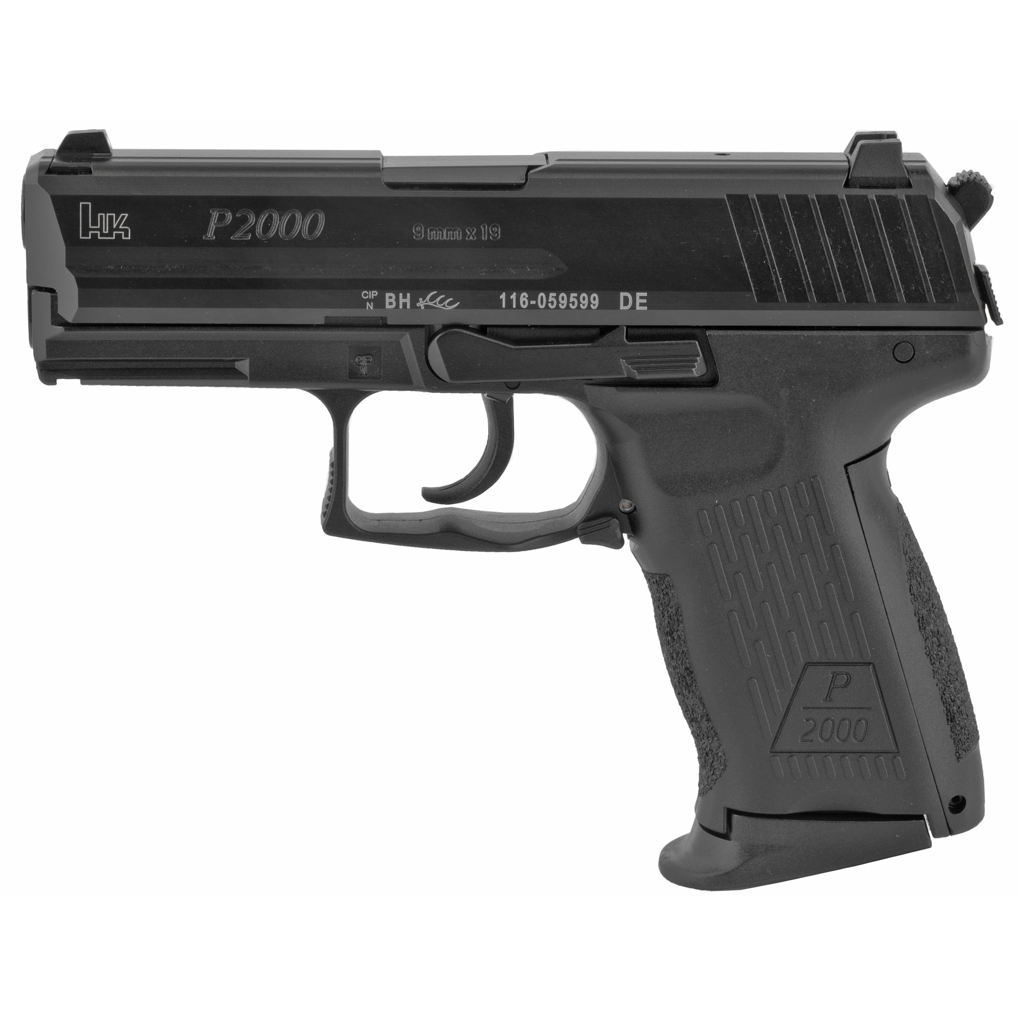 """The first of the many recent additions to the Heckler & Koch handgun line"""" the P2000 and incorporate features of the successful HK USP Compact pistol with the latest innovations of HK engineers. A refinement of a design created for several European police agencies"""" the P2000 is available with a traditional double-action/single-action trigger mode or the LEM/CDA (Law Enforcement Modification"""" also known as Combat Defense Action) trigger system first introduced in 2001 on the USP Compact """"LEM"""" model."""