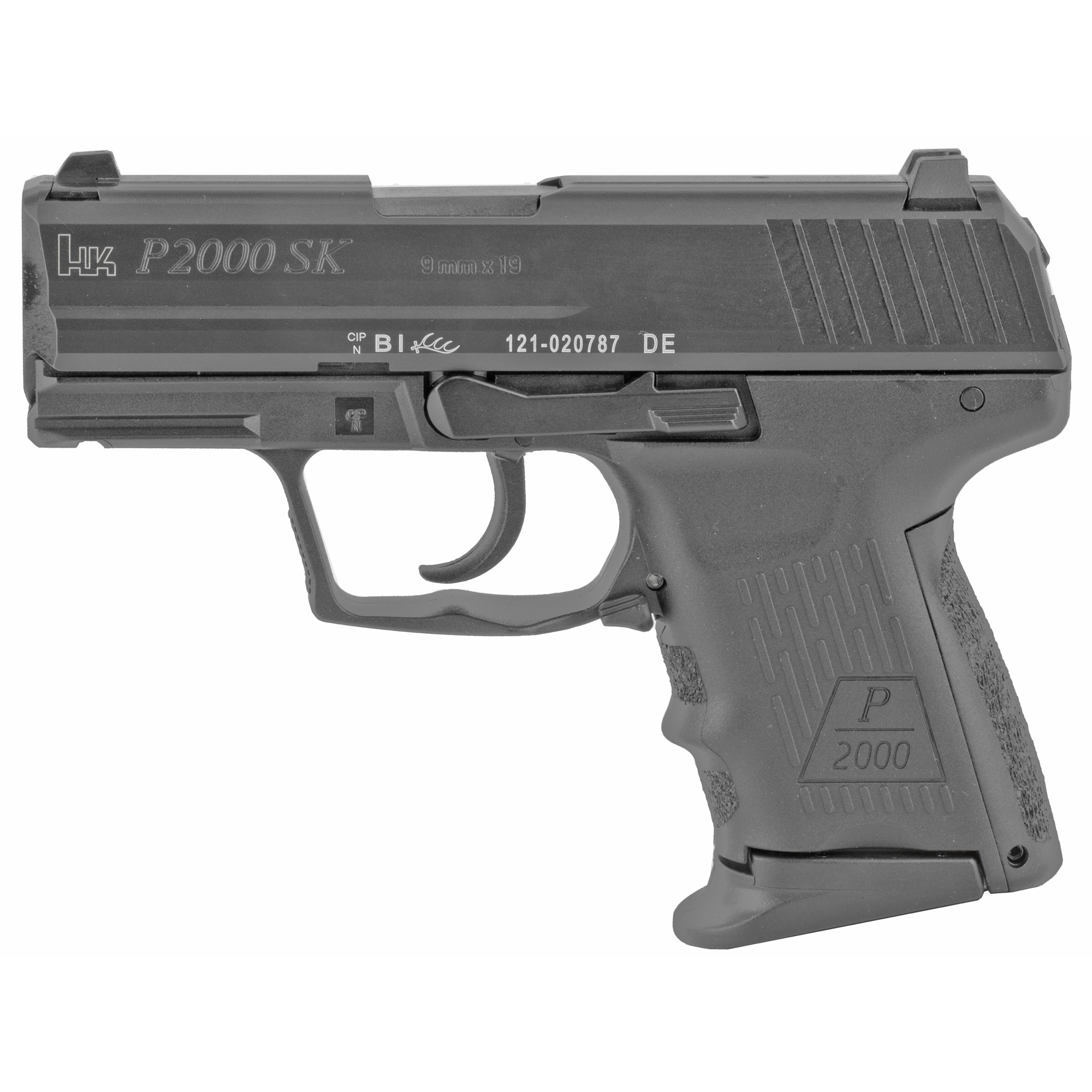 """Like the slightly larger P2000 model"""" the P2000 SK (subcompact) combines elements of the successful HK USP Compact pistol with recent technological innovations from HK engineers - only in a smaller"""" more concealable design."""