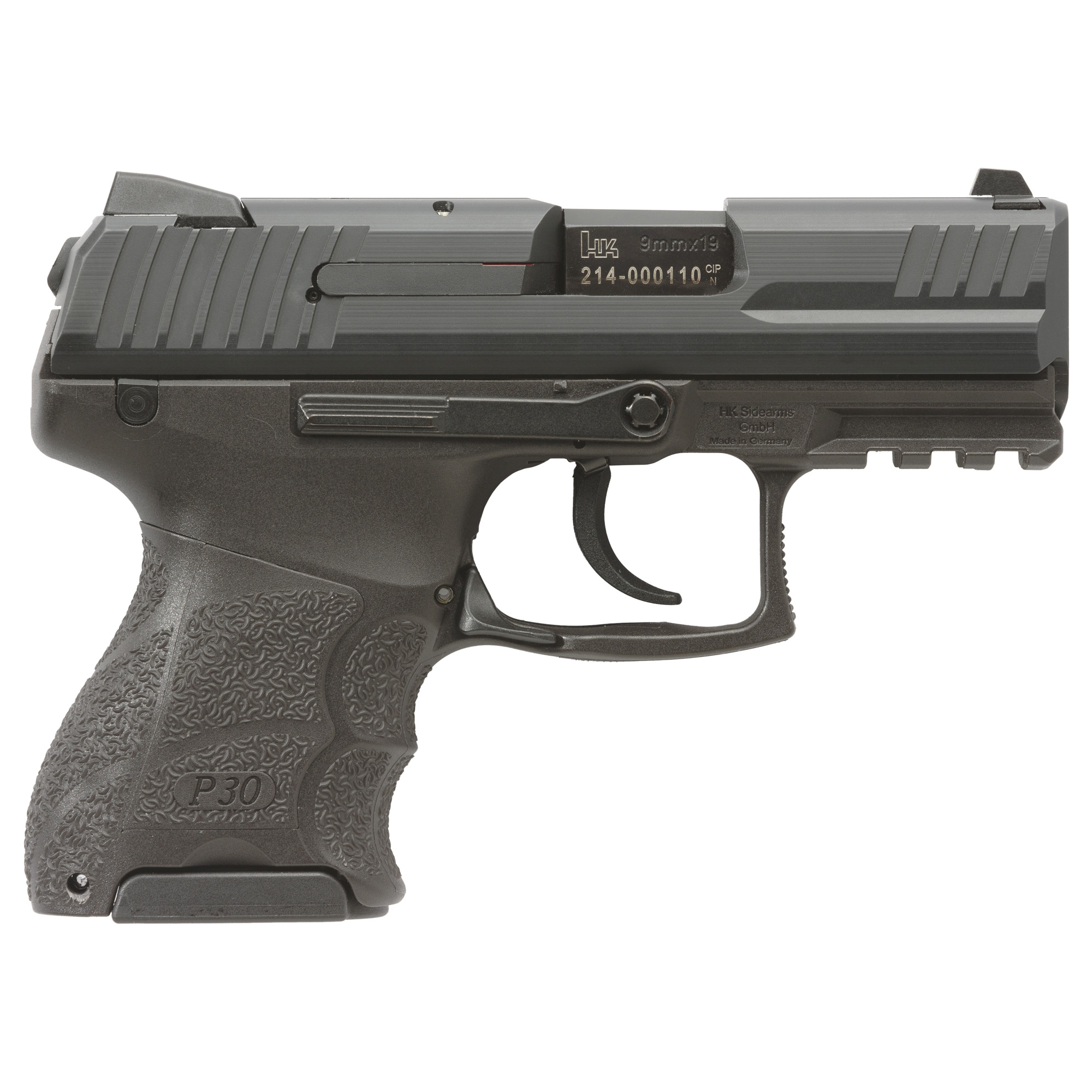 """The subcompact model of the renowned P30 handgun"""" P30SK (SubKompact) series has all of the sought-after characteristics of the larger frame P30 and P30L pistols but in a more concealable design. The completely adjustable P30 grip feature - consisting of interchangeable backstraps and lateral grip panels - is replicated in the ultra-compact grip frame of the P30SK. This allows the pistol to be easily modified to fit to any individual user."""
