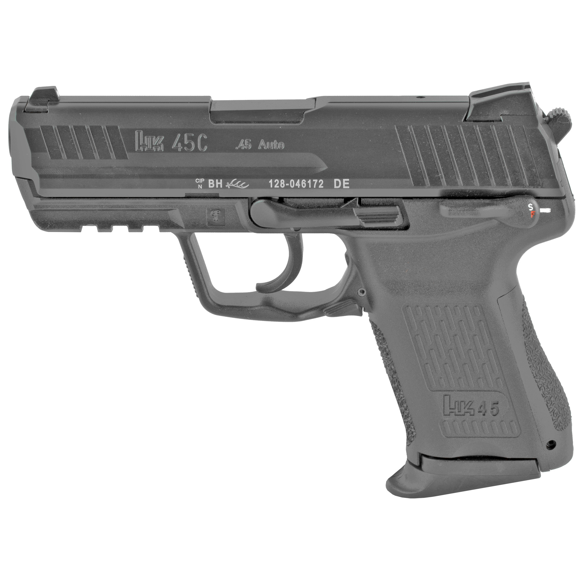 """Smaller in length and height than the standard HK45"""" the HK45 Compact (HK45C) uses a slim-line grip profile"""" otherwise it is nearly identical in features to the full-size HK45. Like the HK45"""" the HK45 Compact was developed as a possible candidate for the Joint Combat Pistol (JCP) and Combat Pistol (CP) programs administered by the U.S. military in their search for a new service handgun."""