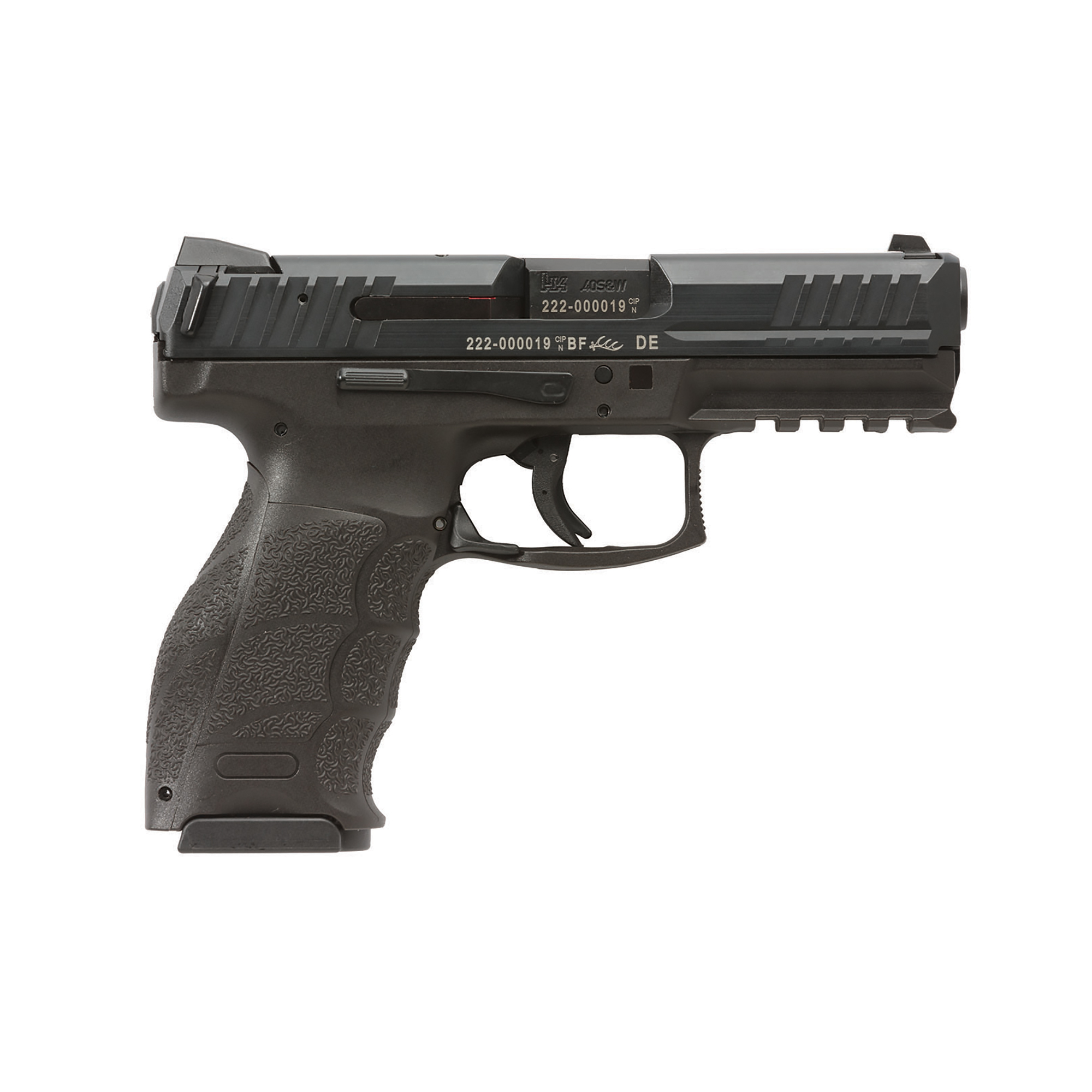 """In development for more than four years"""" the VP Series is Heckler & Koch's latest handgun and the first striker fired HK since the renowned P7 series pistols were introduced in the 1980s. The VP40 is well-suited for civilian sport shooting"""" security"""" military"""" and law enforcement use."""