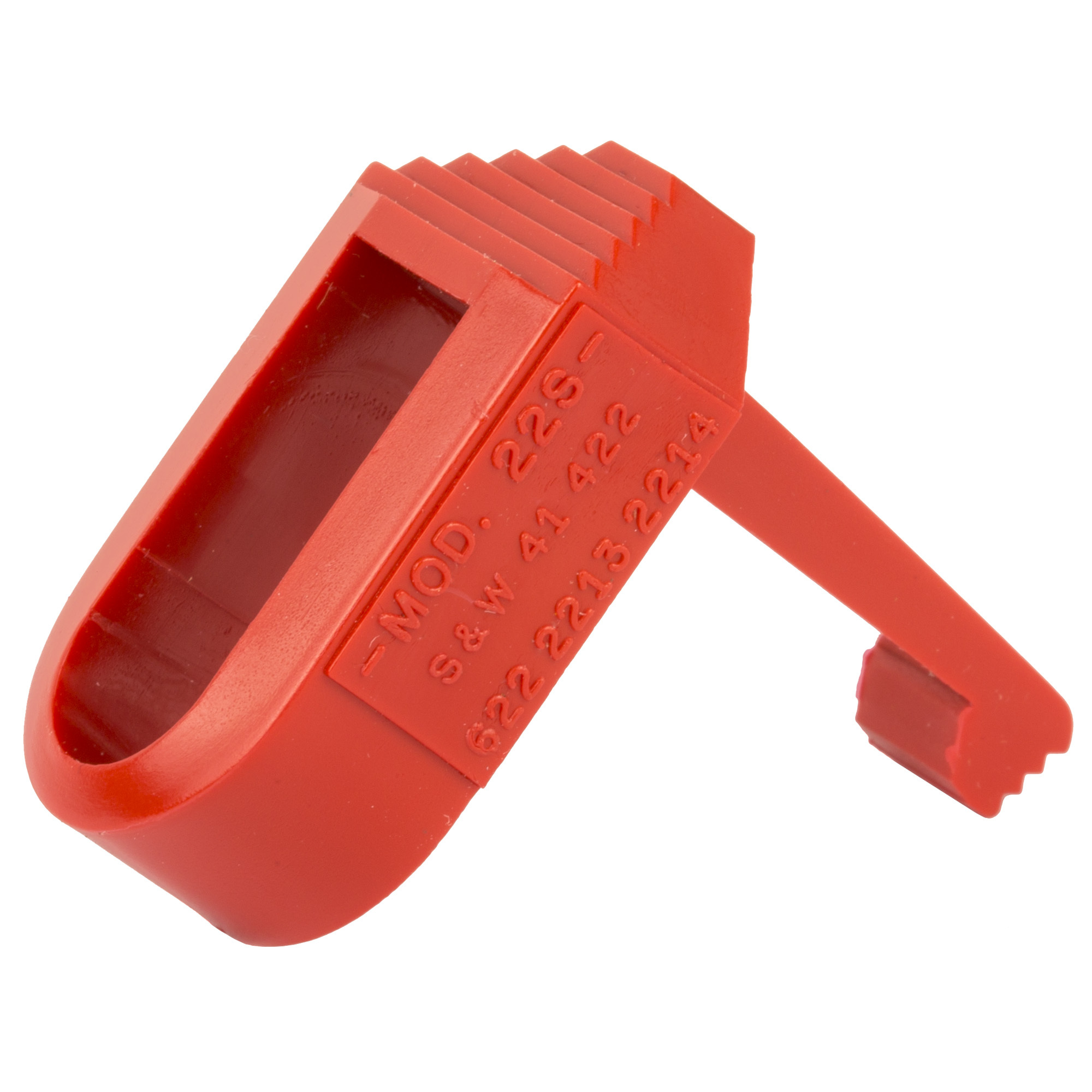 The HKS Mag Loader is capable of loading 15 rounds in 18 seconds. The magazine slips into the loader and is held in by hand. Depress the thumb lever and load. It's that easy!