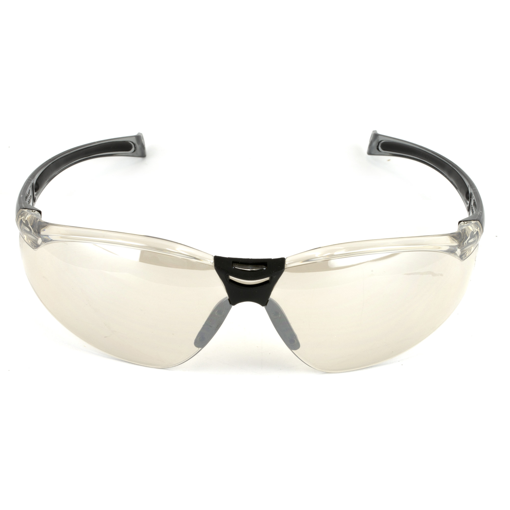 The HL804 features a indoor/outdoor mirror lens tint that is ideal for shooting sports as it minimizes eye strain and fatigue from sun glare. The non-slip rubber nose bridge conforms to various nose shapes. A wrap-around 9-base polycarbonate lens offers superior protection and provides a 180 degree field of distortion-free vision.