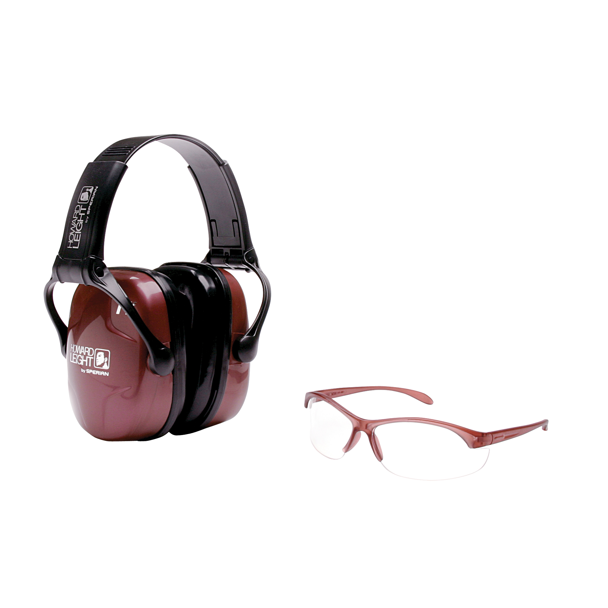 """Women's Shooting Sports Safety Combo Kit is an excellent starter package for women who are new to shooting sports. Designed specifically for the female face"""" the eyewear is narrower across the front"""" shorter at the temple and slimmer in the nose bridge than standard shooting glasses. The safety eyewear also features a clear polycarbonate lens suitable for both indoor and outdoor use"""" as well as an anti-fog lens coating for extended performance. The coordinating ultra-light earmuff carries a Noise Reduction Rating (NRR) of 25 for effective"""" reliable hearing protection for shooting. An adjustable headband and soft ear cushions allow for a custom fit"""" while the folding design makes for convenient storage when not in use."""