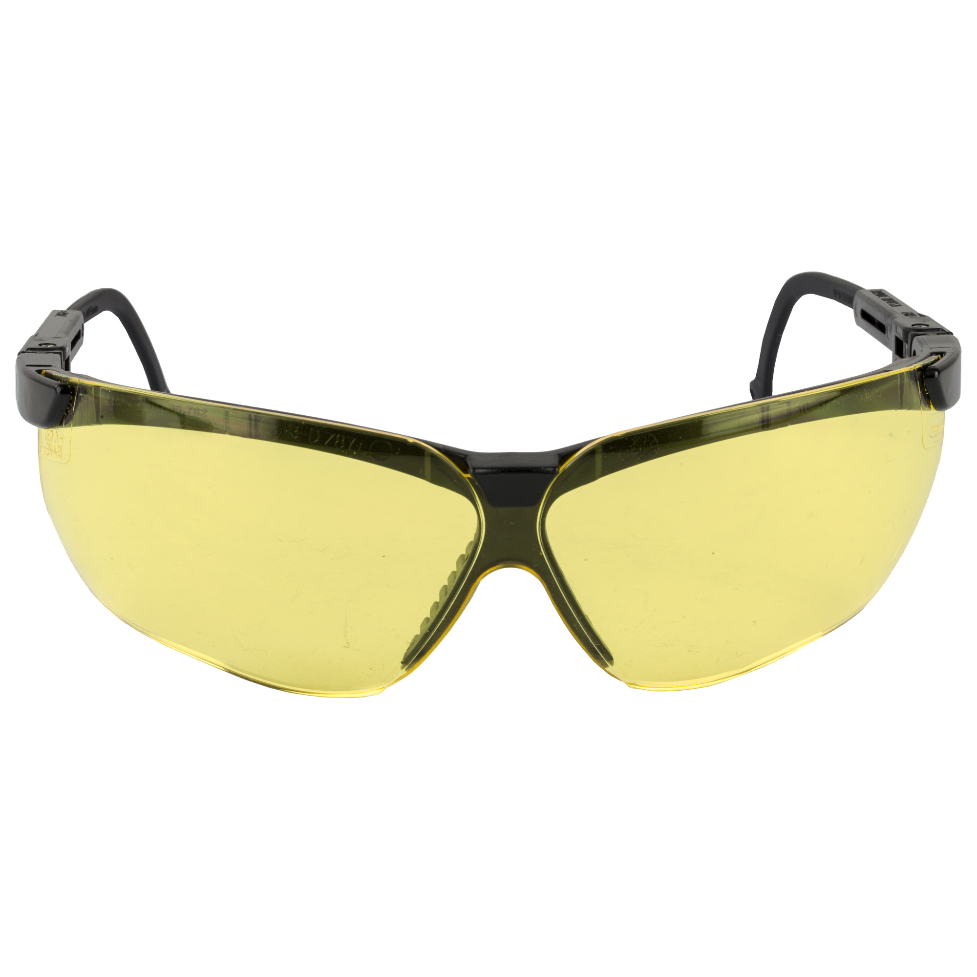 Howard Leight's Genesis features a wrap-around lens for uncompromised peripheral vision and protection. They have an adjustable temple length and lens inclination for a custom fit. A Unique ventilation channel between the frame and lens delivers superior fog control.