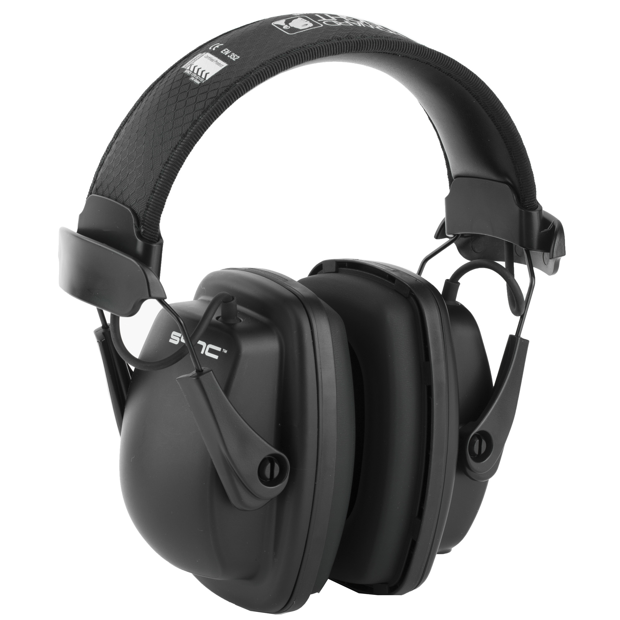 """These hearing protector earmuffs include high-fidelity stereo sound from a user's MP3 player"""" smart phone and other personal listening devices. They feature a stylish"""" DJ-inspired ear cup design"""" sound quality equal to many professional and high-end personal stereo headphones and technology to manage output volume from portable audio devices at safer levels."""