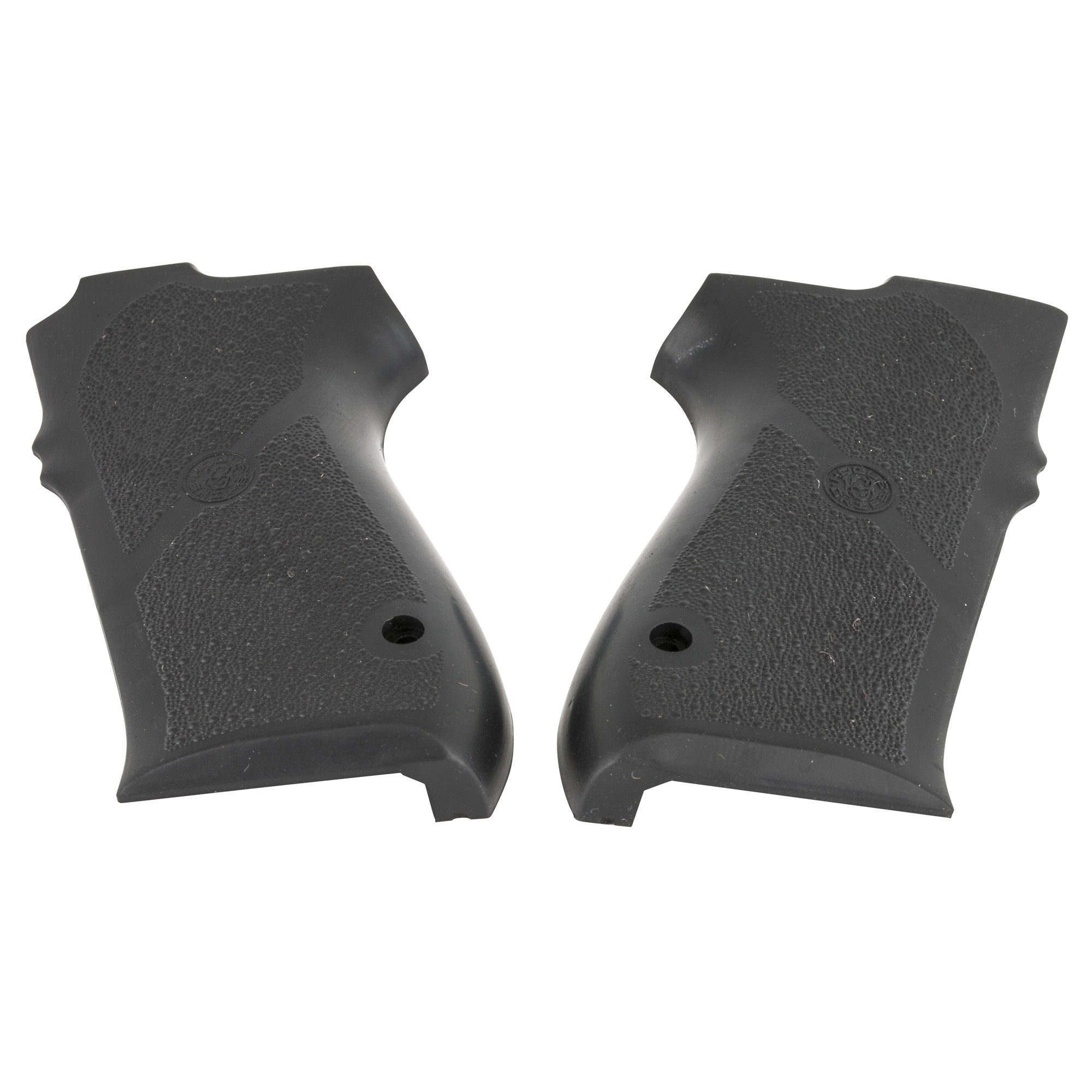 "Hogue's S&W 1006/4506 Series Rubber Grip Panels with No Finger Grooves are molded from a durable synthetic rubber that is not spongy or tacky"" but gives that soft recoil absorbing feel"" without affecting accuracy. This modern rubber requires a completely different molding process than ordinary neoprene and results in a much superior grip. The material they use does not come apart or deteriorate and is resistant to all solvents and oils used around firearms. Hogue Grips give you a lasting precision fit and durability that will provide years of dependable service. The flexibility of their materials and molding process has allowed them to produce superior rubber grips with features that out perform all other makes. Will not fit frame decocker models with a 2"" or 7"" third digit."