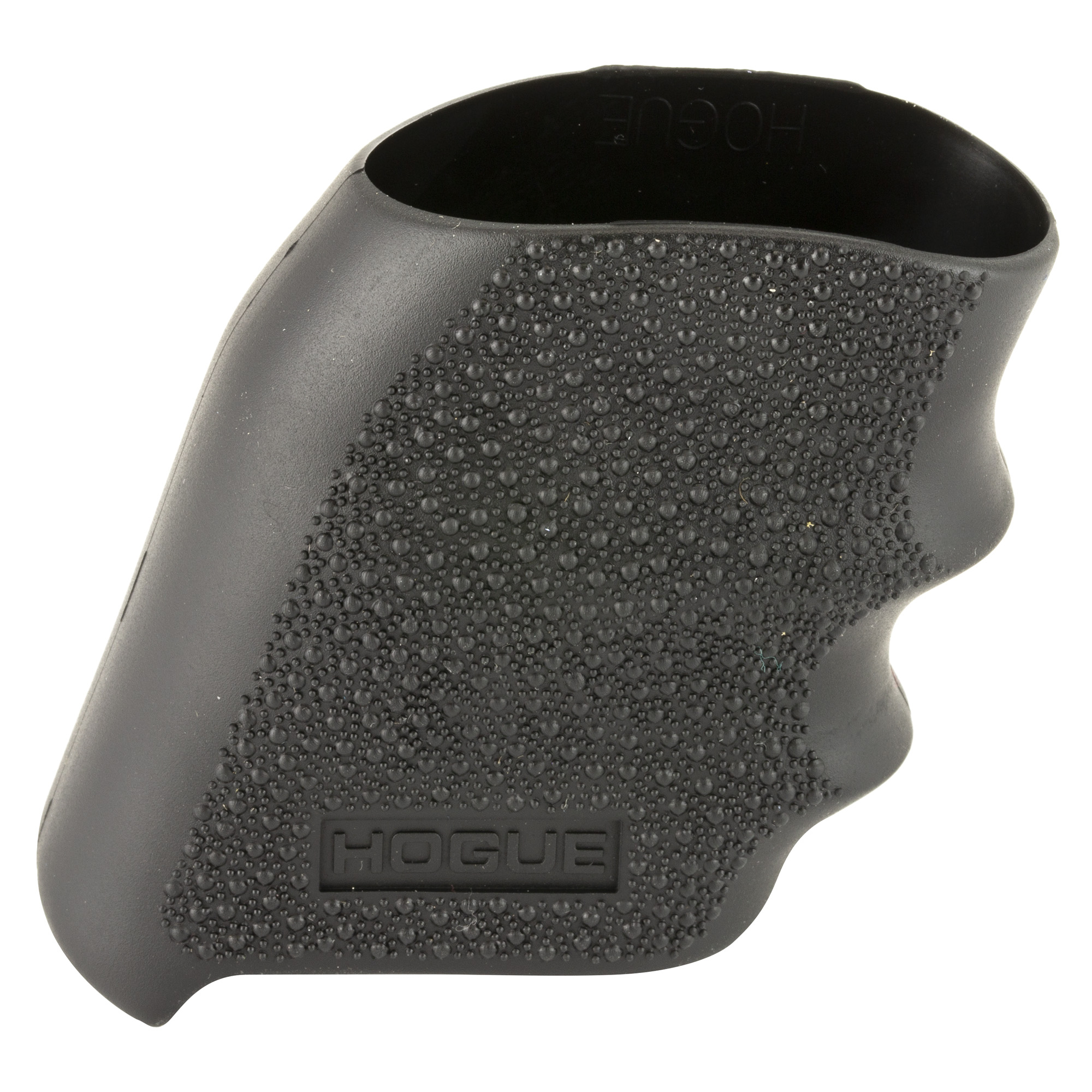 "Hogue's Handall Hybrid Grip Sleeve with Finger Grooves is molded from a durable synthetic rubber that is not spongy or tacky"" but gives that soft recoil absorbing feel"" without affecting accuracy. This modern rubber requires a completely different molding process than ordinary neoprene and results in a much superior grip. The material they use does not come apart or deteriorate and is resistant to all solvents and oils used around firearms. Hogue Grips give you a lasting precision fit and durability that will provide years of dependable service. The flexibility of their materials and molding process has allowed them to produce superior rubber grips with features that out perform all other makes."
