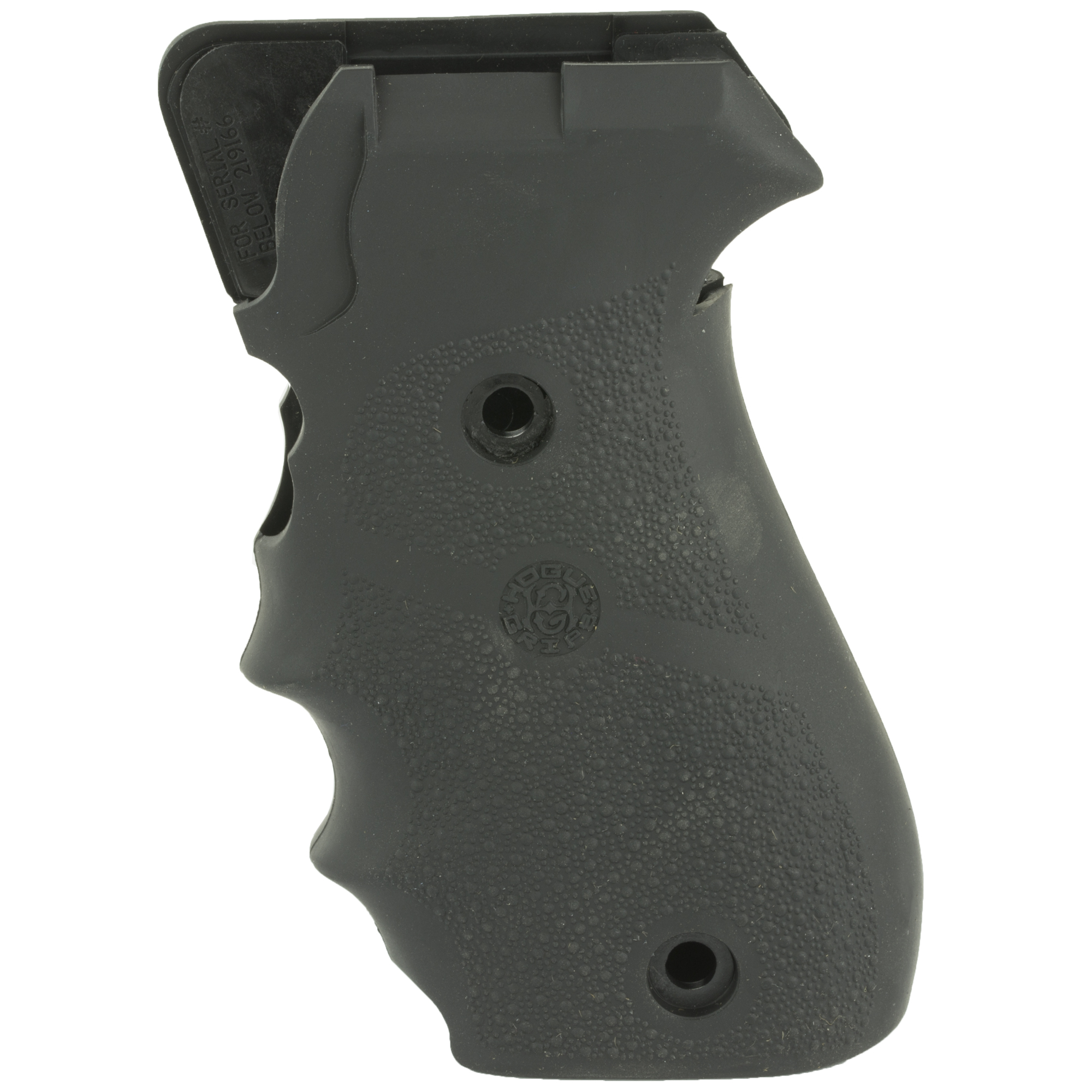 "Hogue's Monogrip with Finger Grooves for SIG P220 is molded from a durable synthetic rubber that is not spongy or tacky"" but gives that soft recoil absorbing feel"" without affecting accuracy. This modern rubber requires a completely different molding process than ordinary neoprene and results in a much superior grip. The material they use does not come apart or deteriorate and is resistant to all solvents and oils used around firearms. Hogue Grips give you a lasting precision fit and durability that will provide years of dependable service. The flexibility of their materials and molding process has allowed them to produce superior rubber grips with features that out perform all other makes."