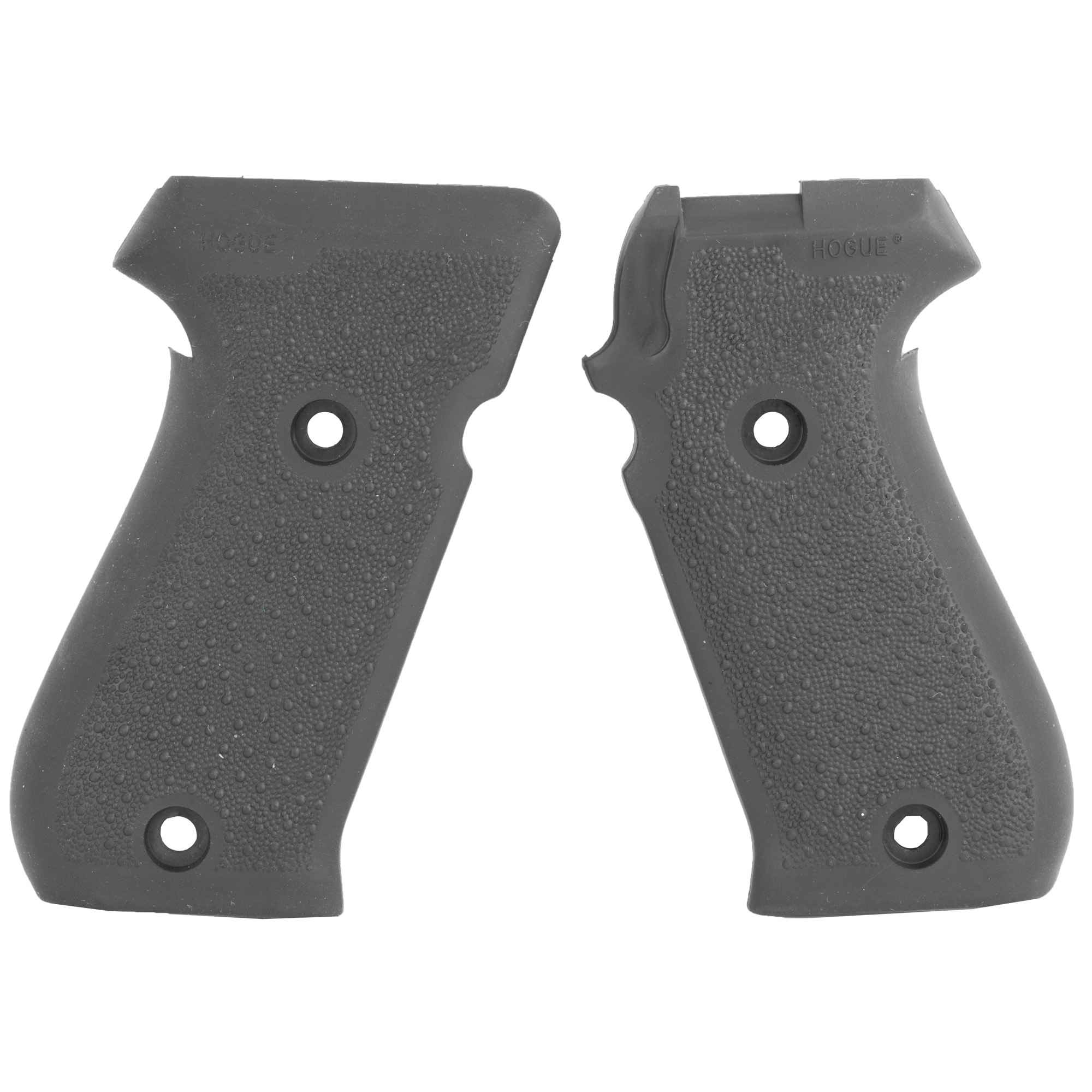 "Hogue's Monogrip (No Finger Grooves) for SIG P220 is molded from a durable synthetic rubber that is not spongy or tacky"" but gives that soft recoil absorbing feel"" without affecting accuracy. This modern rubber requires a completely different molding process than ordinary neoprene and results in a much superior grip. The material they use does not come apart or deteriorate and is resistant to all solvents and oils used around firearms. Hogue Grips give you a lasting precision fit and durability that will provide years of dependable service. The flexibility of their materials and molding process has allowed them to produce superior rubber grips with features that out perform all other makes."