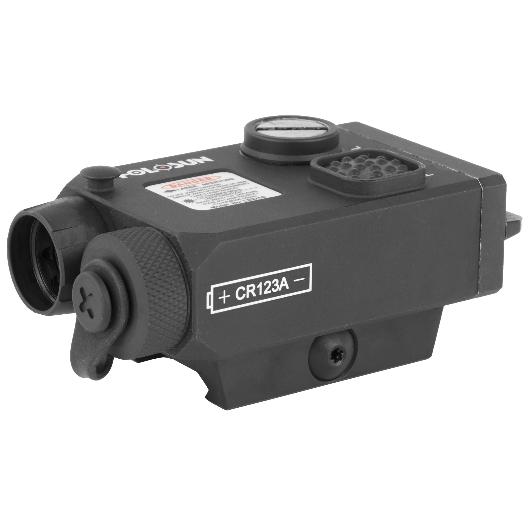 LS221G is a dual laser sight that features one visible green laser and one IR laser to be used with Night Vision devices. The two lasers are coaxial so that the user could adjust them synchronously using same windage and elevation adjustments.