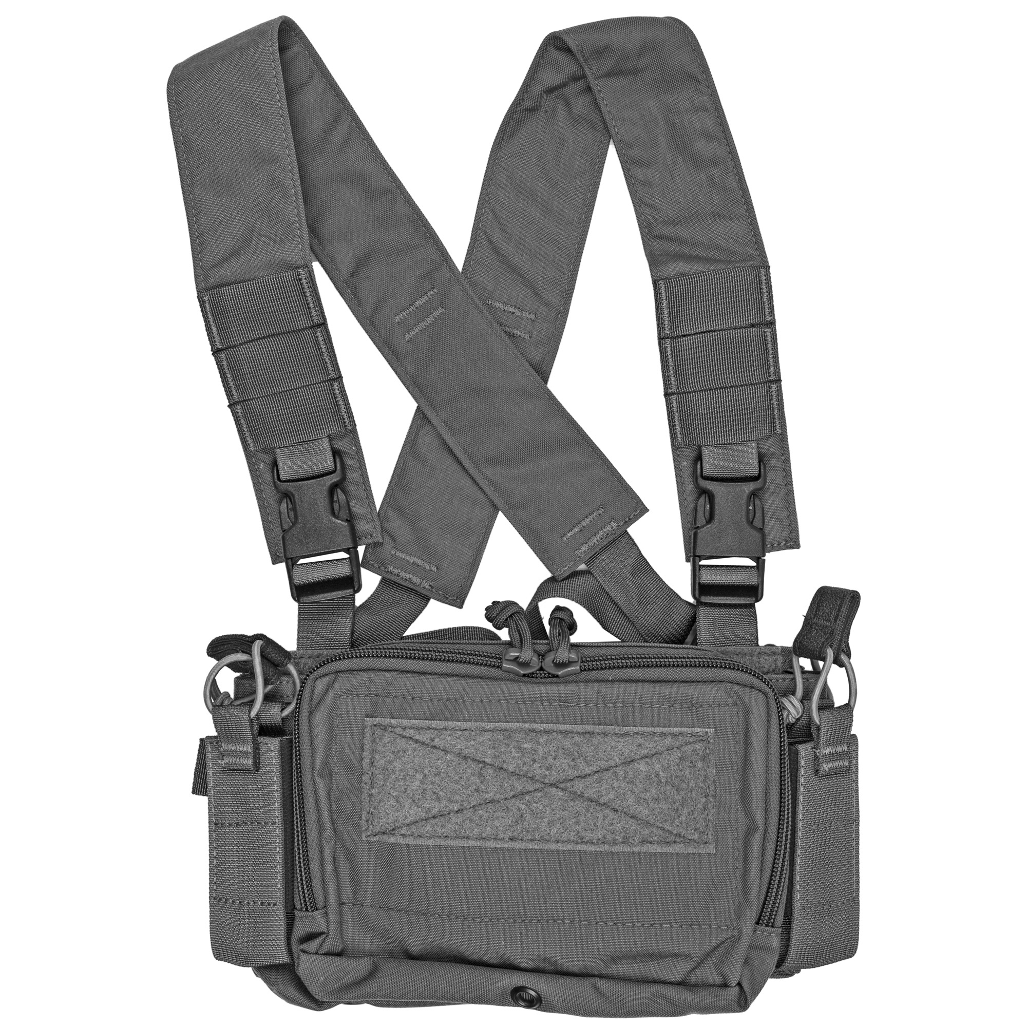 The NEW Disruptive Environments Chest Rig Micro has been designed to be completely adaptive to any mission. The new multi-mission inserts allow the operator to run any configuration of magazine they choose by simply swapping out the insert for another via Velcro. The Micro design is small but packs a lot with redesigned storage capabilities and still works seamlessly with D3CR accessories like their other chest rigs. The addition of two side mounted Multi-Mission pouches allows the rig to be more streamlined and carry mission essentials where they count. The full field of Velcro allows the rig to be outfitted with the latest D3CR accessories as well as assist in the full contact connection with plate carriers.