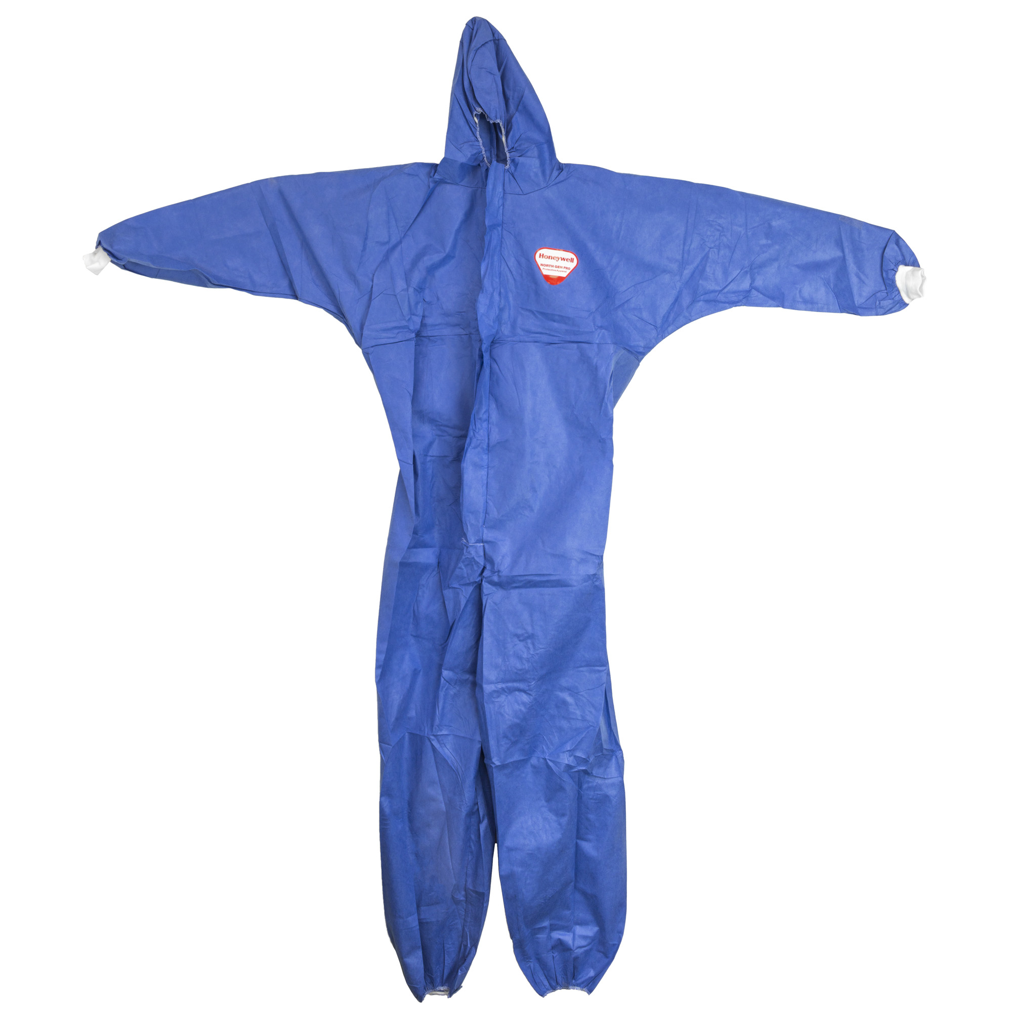 """North Gen Pro Disposable Coveralls feature knitted cuffs and elastic at the ankles"""" hood and waist. Meets CE Type 5 & 6"""