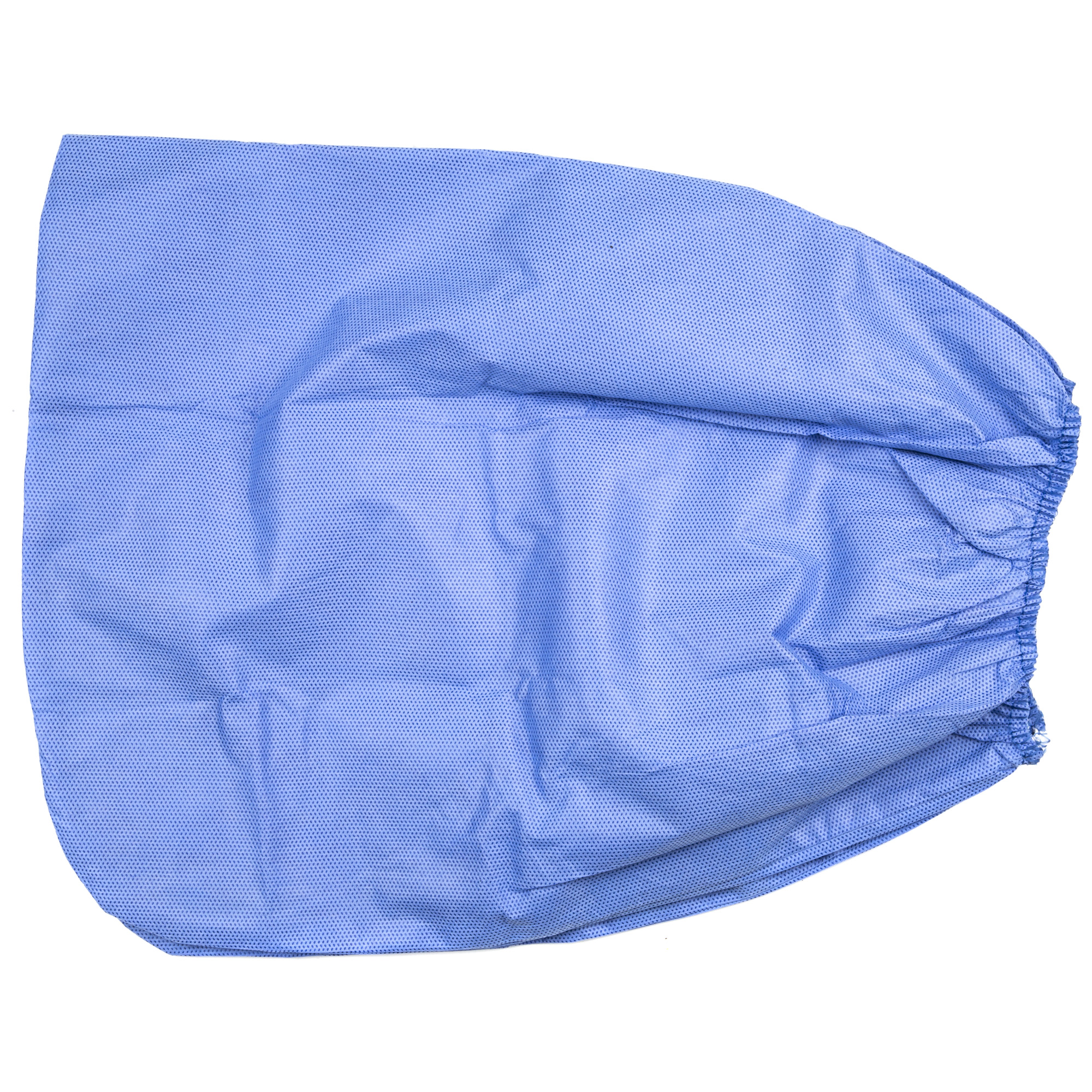Single-use boot covers feature blue SMS polypropylene construction and elastic tops.