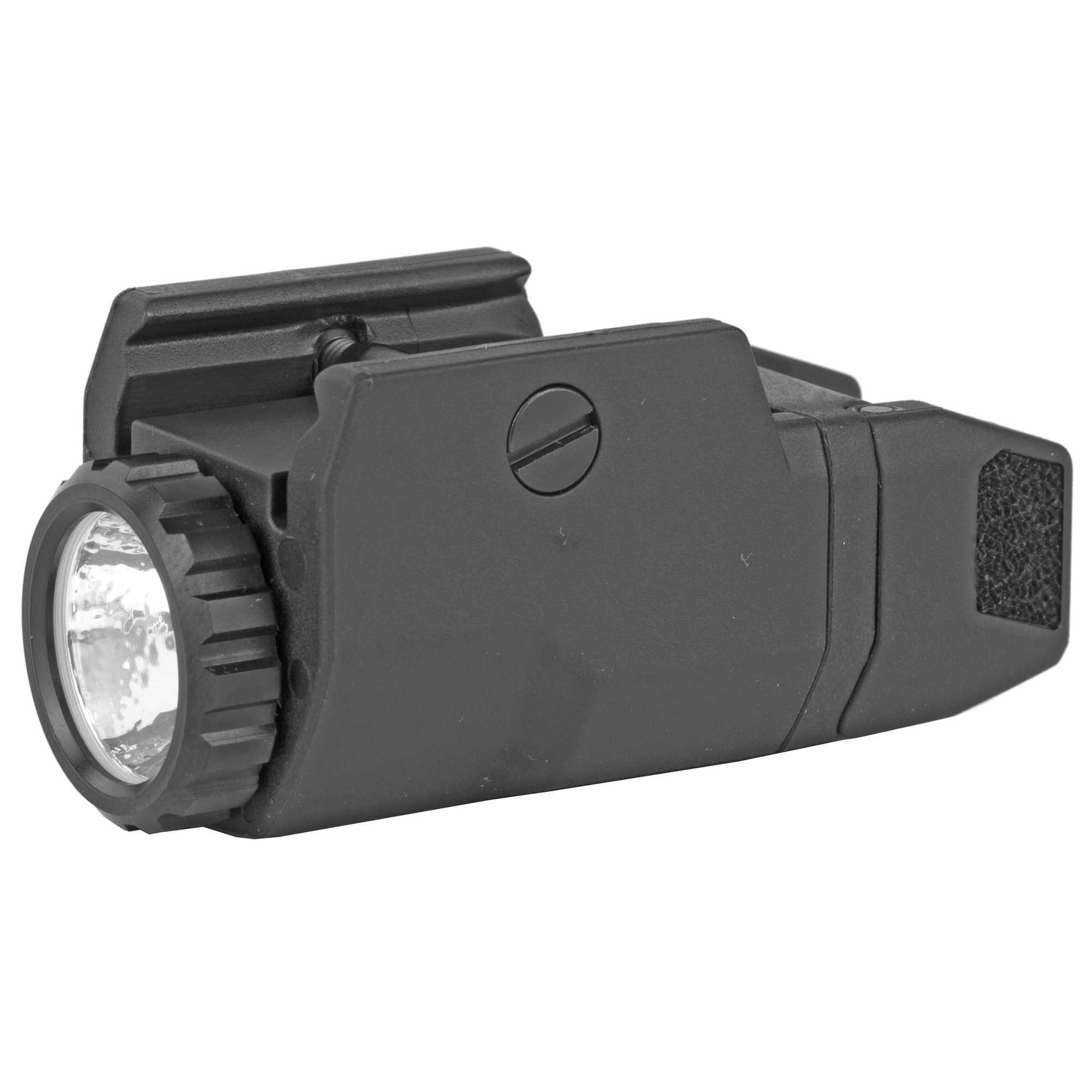 """The APL Compact provides 200 lumens of vibrant white light with up to 1.5 hours of runtime. Ultra-light and durable inside and out"""" weighing less than 2 ounces"""" it provides a high-intensity tight beam to fill your field of view for close to mid-range target identification. The water-resistant"""" glass reinforced polymer body is incredibly powerful and ultra-compact. Extensively tested"""" it integrates with MIL-STD-1913 rails and offers constant and momentary operating modes. Textured paddles for a non-slip grip and ambidextrous on/off switches enable left or right hand activation. In addition"""" the easy-to-operate lockout system ensures the light isn't activated until you're ready."""