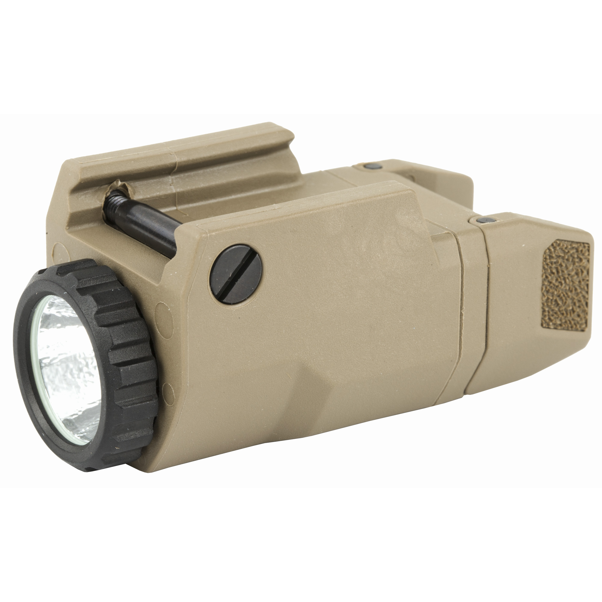 """The APL Compact by INFORCE provides 200 lumens of vibrant white light with up to 1.5 hours of runtime. Ultra-light and durable inside and out"""" weighing less than 2 ounces"""" it provides a high-intensity tight beam to fill your field of view for close to mid-range target identification. The water-resistant"""" glass reinforced polymer body is incredibly powerful and ultra-compact. Extensively tested"""" it mounts completely flush with the muzzle of a Glock 19 and offers constant and momentary operating modes. Textured paddles for a non-slip grip and ambidextrous on/off switches enable left or right hand activation. In addition"""" the easy-to-operate lockout system ensures the light isn't activated until you're ready."""