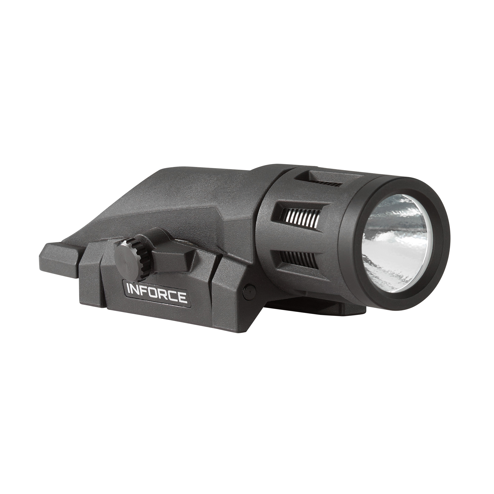 """With 400 lumens of vibrant white light"""" Inforce's WML Series is ultra-compact"""" durable"""" and offers three operating modes: constant"""" momentary and strobe. Extensively tested for performance"""" durability and reliability"""" its high efficiency emitters provide up to 1.5 hours of runtime in white mode"""" or 4 hours in infrared mode. This 3-ounce weapon light's concentrated"""" high-intensity beam fills your field of view for close to mid-range target identification. With just a flip of the lever"""" instantaneously switch between white or infrared mode. In addition"""" the easy-to-operate lockout system ensures the light isn't activated until you're ready. Our all-inclusive rail clamping design integrates seamlessly with your weapon"""" providing simple"""" fast mounting with no need for additional tools."""