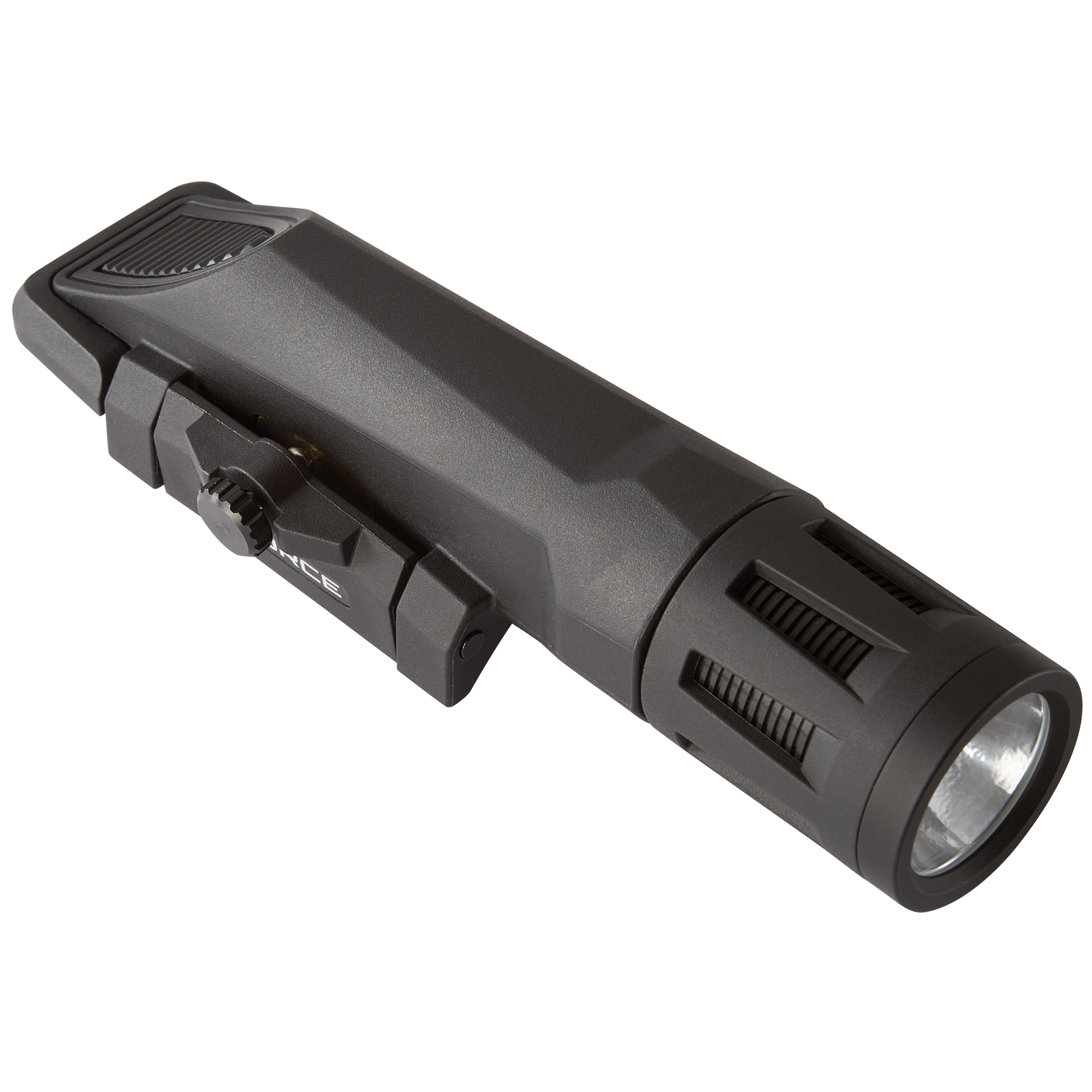 """With 800 lumens of vibrant white light"""" Inforce's WMLx Series is engineered to be lightweight and powerful which offers three easy-to-use operating modes: constant"""" momentary and strobe. At just 4 ounces"""" its concentrated spot and far-reaching"""" high-intensity beam provides significant light for situational awareness and long-distance target identification. The strobe function is easily disabled and the easy-to-operate lockout system ensures the light isn't turned on until you're ready. Our all-inclusive rail clamping design integrates seamlessly with your weapon"""" providing simple"""" fast mounting with no need for additional tools."""