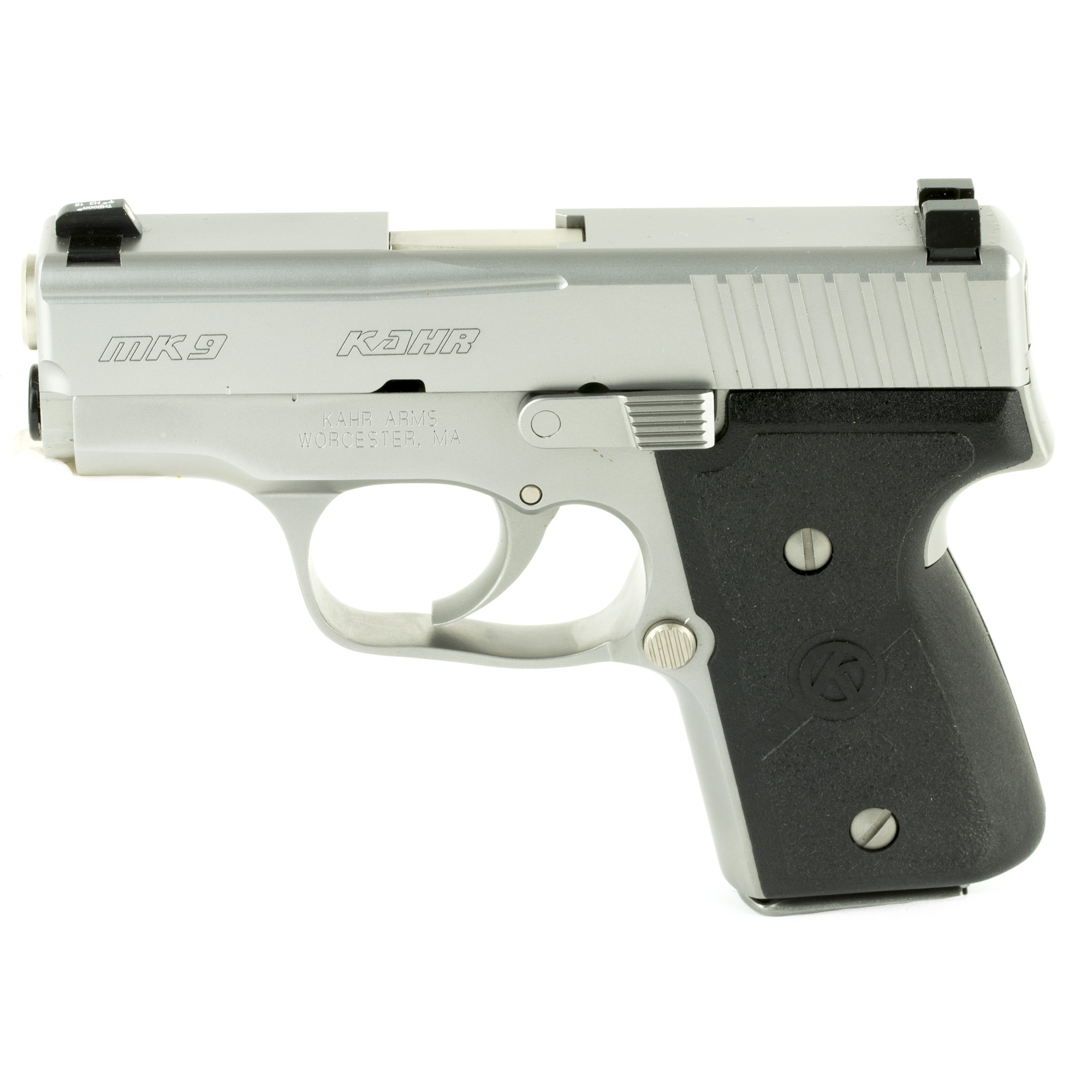 """Kahr Arms offers the best concealed carry/back-up gun on the market by offering high quality and total reliability in a lightweight package. Featuring a match-grade polygonal-rifled barrel and silky smooth DAO trigger"""" the MK9 provides excellent balance and accuracy."""
