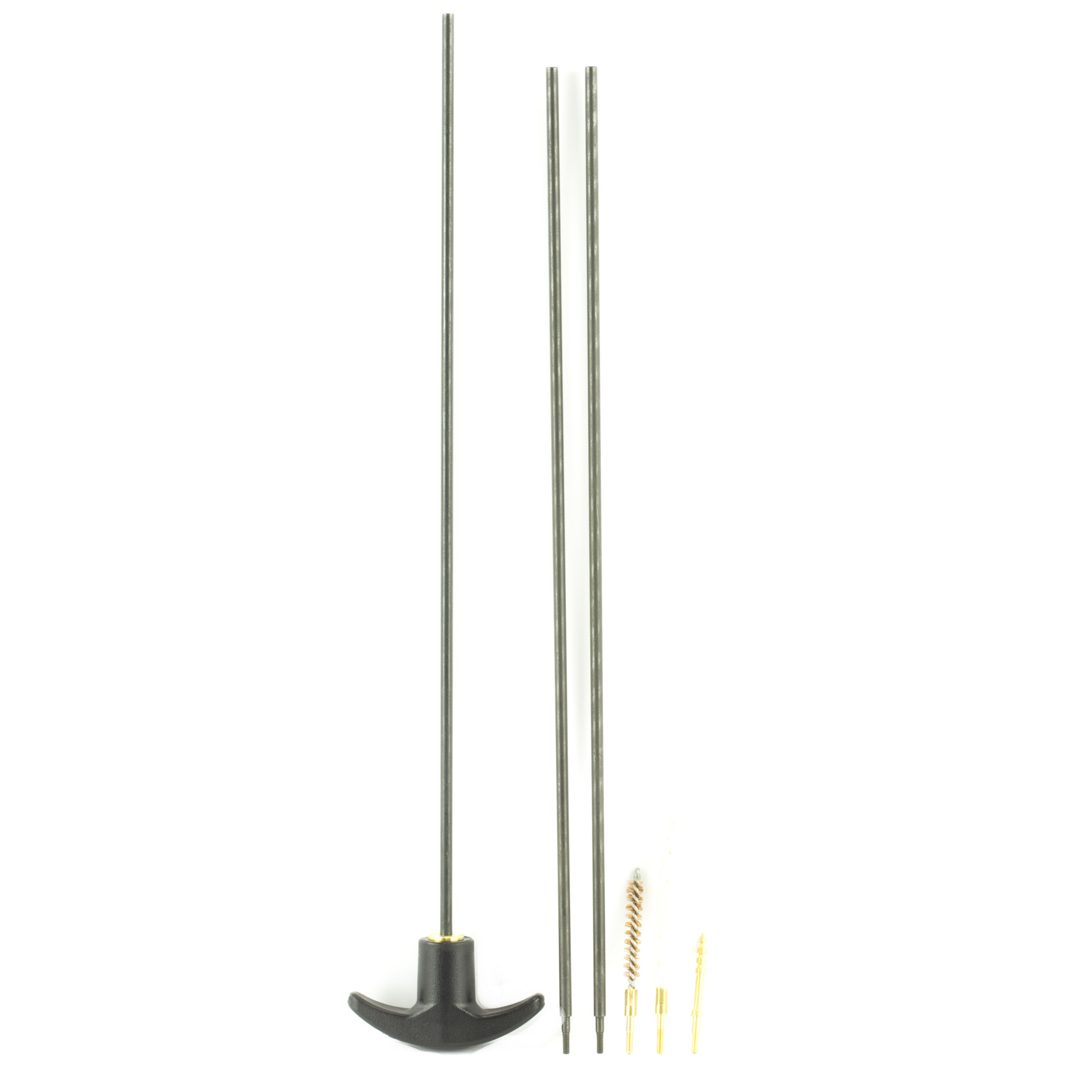 """The Kleen-Bore Three Piece .17 Caliber Rod comes packaged with a phosphor bronze bore brush"""" a cotton bore mop"""" and a jag for holding patches in place."""