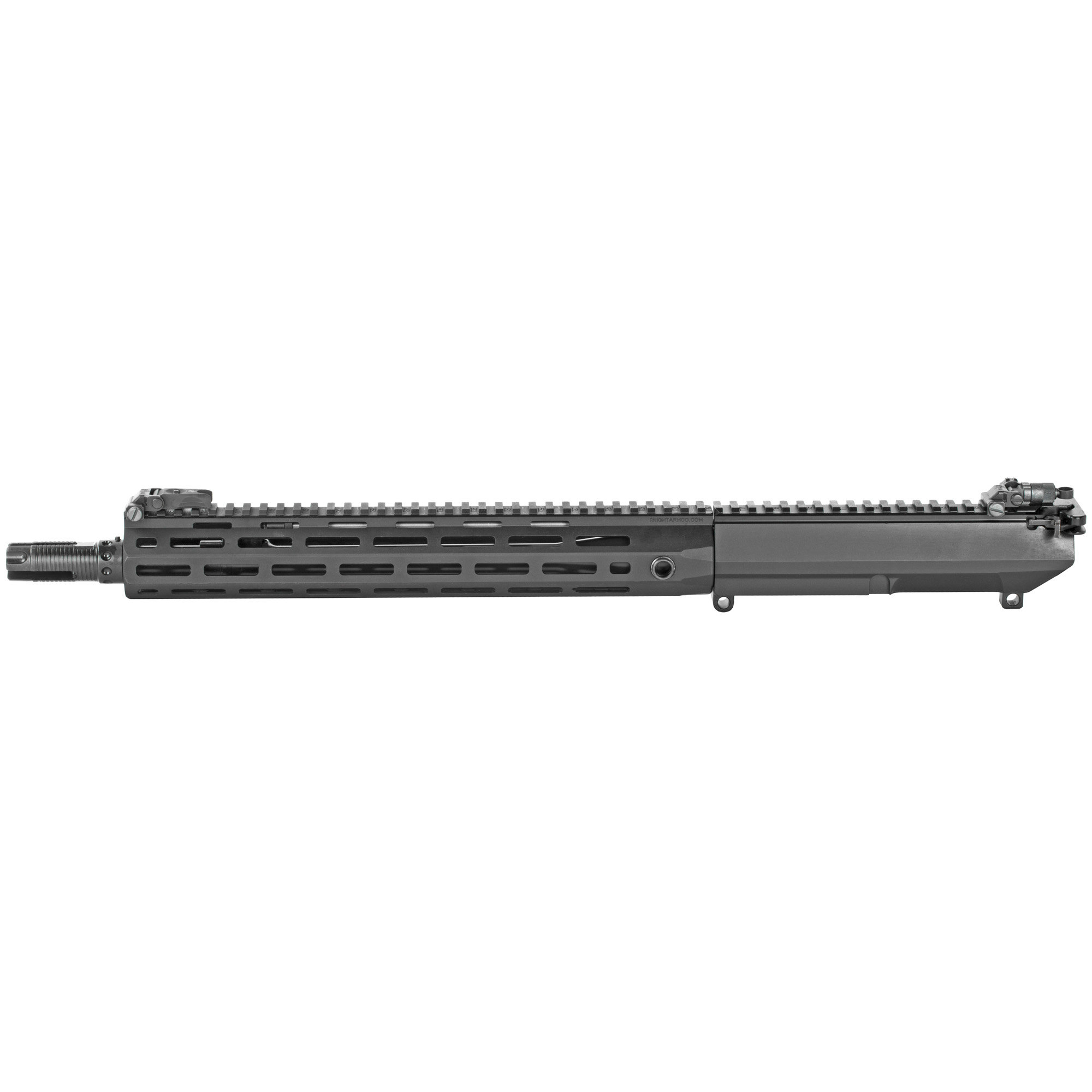 """The SR-25 14.5"""" Combat Carbine Upper kit is the latest evolution in the lightweight 7.62mm Nato Carbine platform. The 14.5"""" CC provides 7.62mm NATO performance in a package of comparable weight and size to common lower caliber platforms. Featuring the newly designed lightweight 14.5"""" barrel and the new 3-prong QDC flash hider"""" the 14.5"""" CC upper is the ultimate choice in battle rifle performance. This complete upper assembly comes standard with a 13.5"""" URX4 M-Lok handguard"""" Knight's Armament Micro Front Sight"""" Knight's Armament Micro 600m Rear Sight"""" SR-25 Buffer"""" SR-25 Action Spring"""" and Magpul M-Lok cover kit."""
