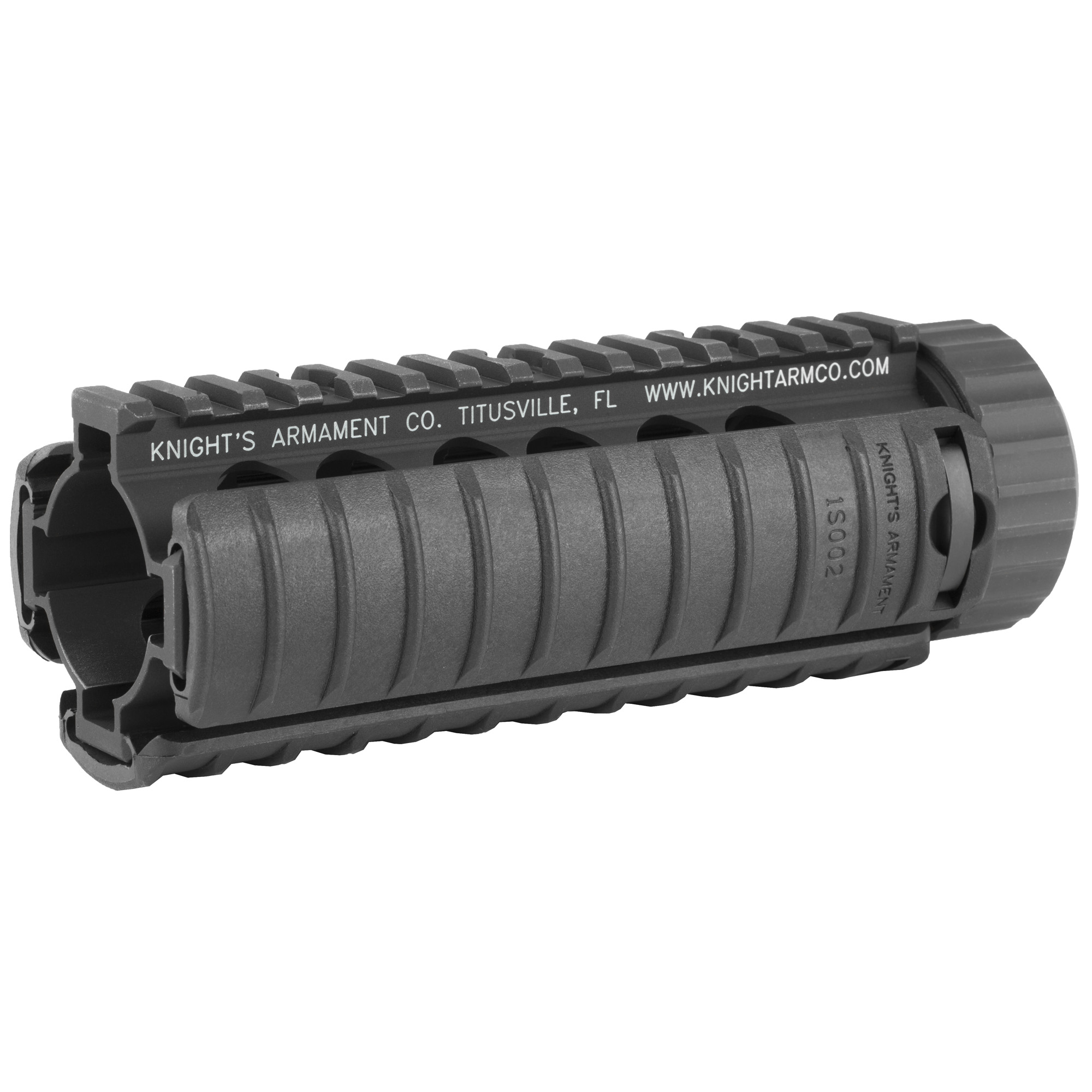 """The KAC Carbine Free Float RAS (Rail Adapter System) features full length mil-spec M1913 Picatinny rails at the 12-"""" 3-"""" 6-"""" and 9 o'clock positions"""" making it compatible with any number of rail-mounted tactical accessories. The rail free floats the barrel"""" allowing for consistent barrel harmonics upon firing"""" and thus increased accuracy potential. Includes three KAC 11 Rib Rail Panels."""