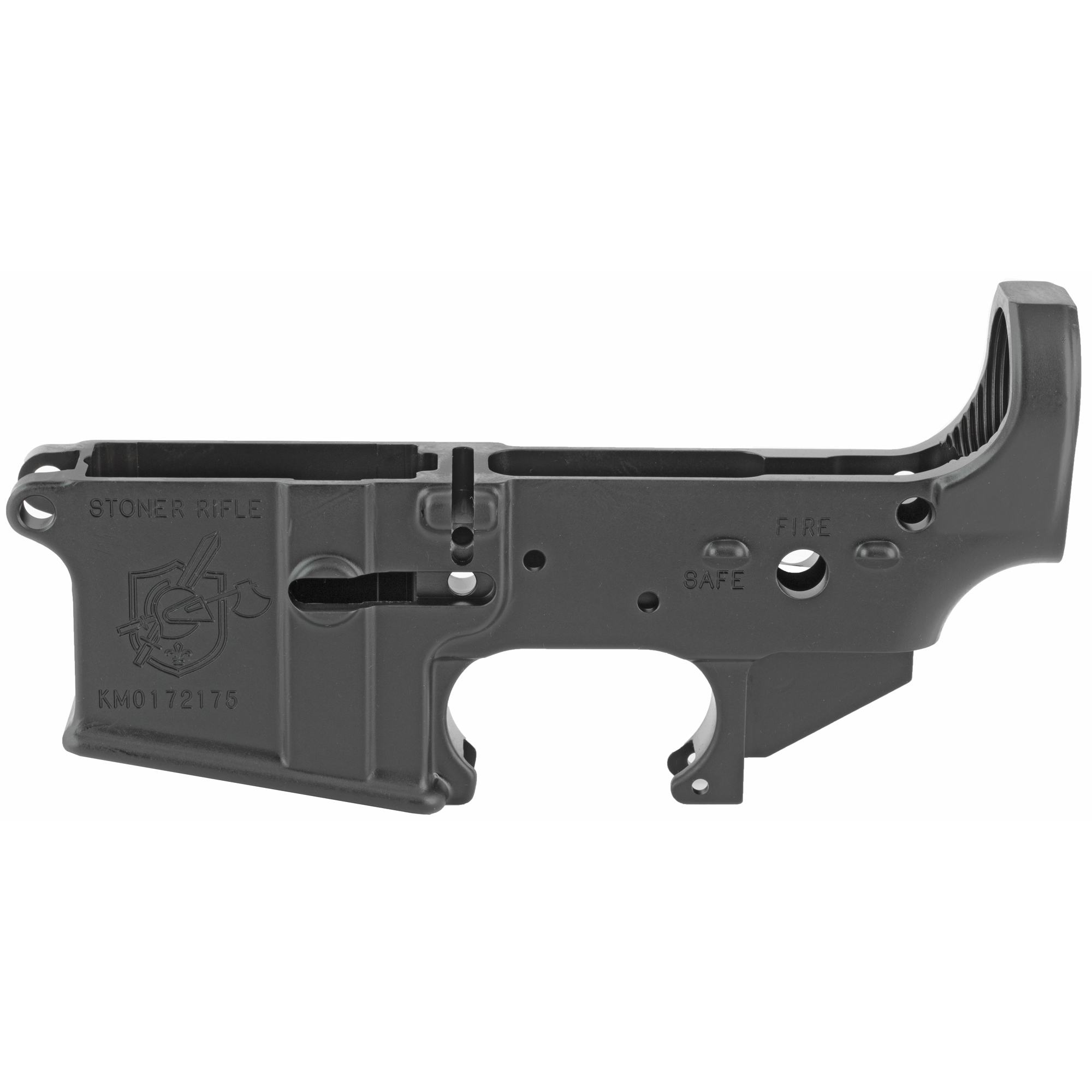 The Knight's Armament SR-15 Stripped Lower Receiver is designed to accept standard mil-spec lower parts kits. The lower is machined from battle-proven 7075-T6 aluminum and is treated with a Type 3 hard-anodized finish.