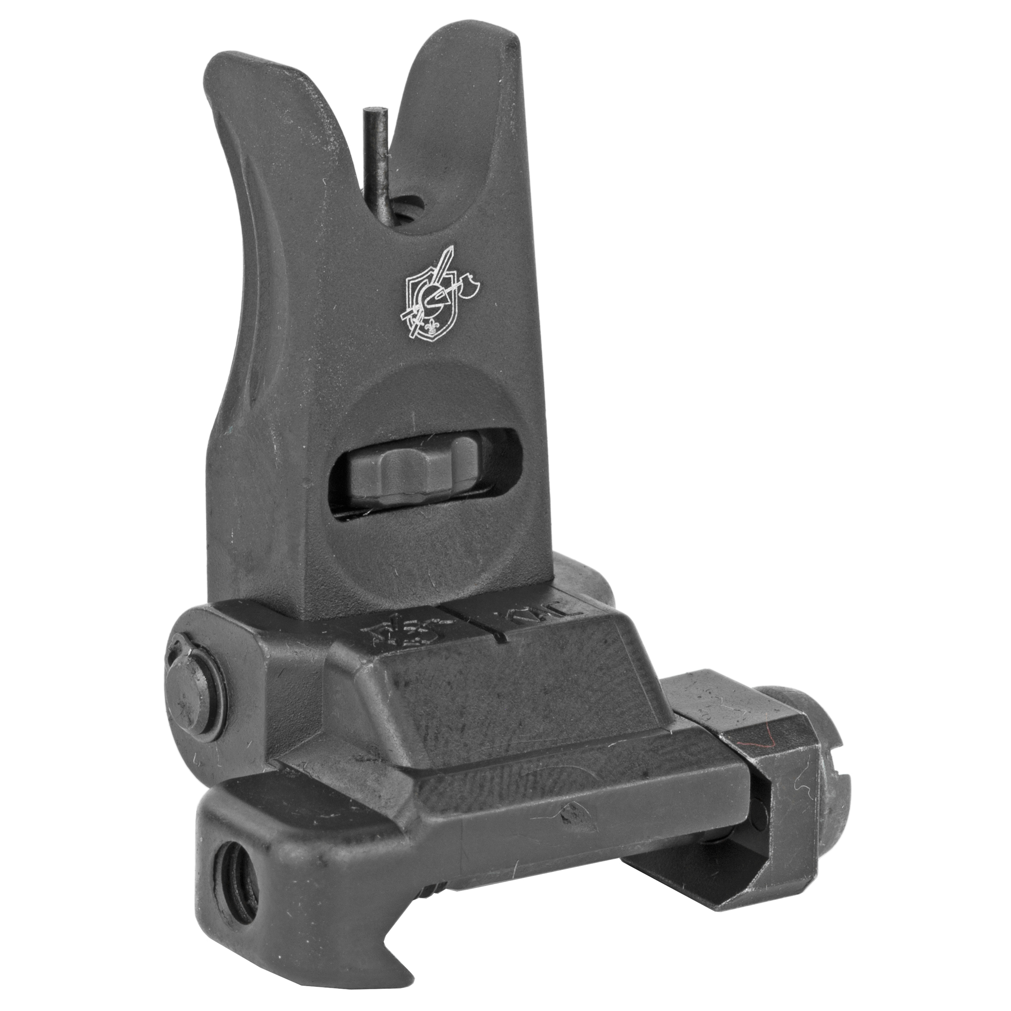 """This folding micro front sight features a tool free"""" finger adjustable front sight post that makes performing sight corrections extremely fast and simple."""