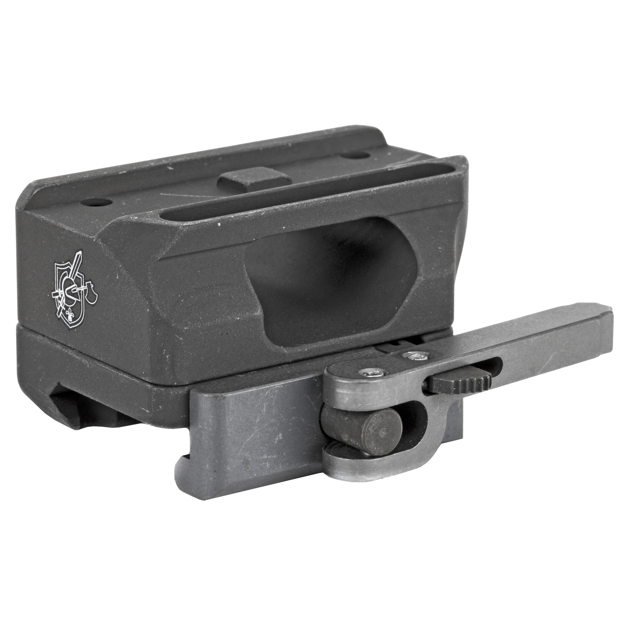 """This KAC Aimpoint Micro Mount features a quick detach"""" throw lever attachment system."""