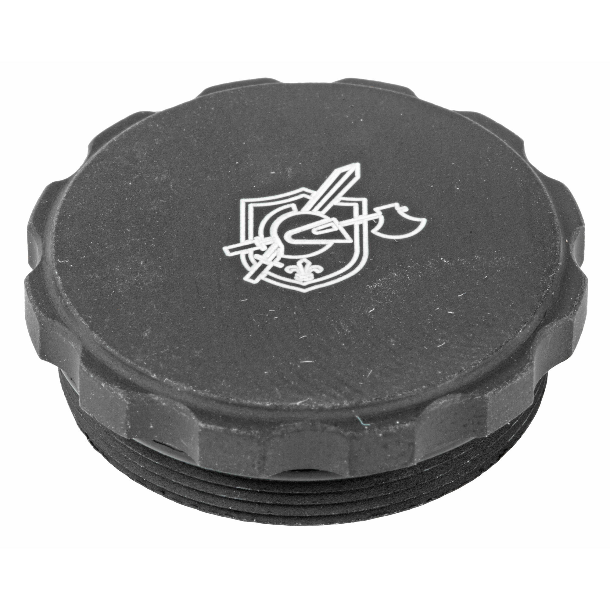 Show off your Knight's pride and store a backup battery for your sight with the KAC Aimpoint T-1/T-2 Micro sight battery cap. This battery cap replaces the standard cap and allows for an extra battery to be stored under the cap. Black anodized aluminum with laser engraved Knight's Armament logo.