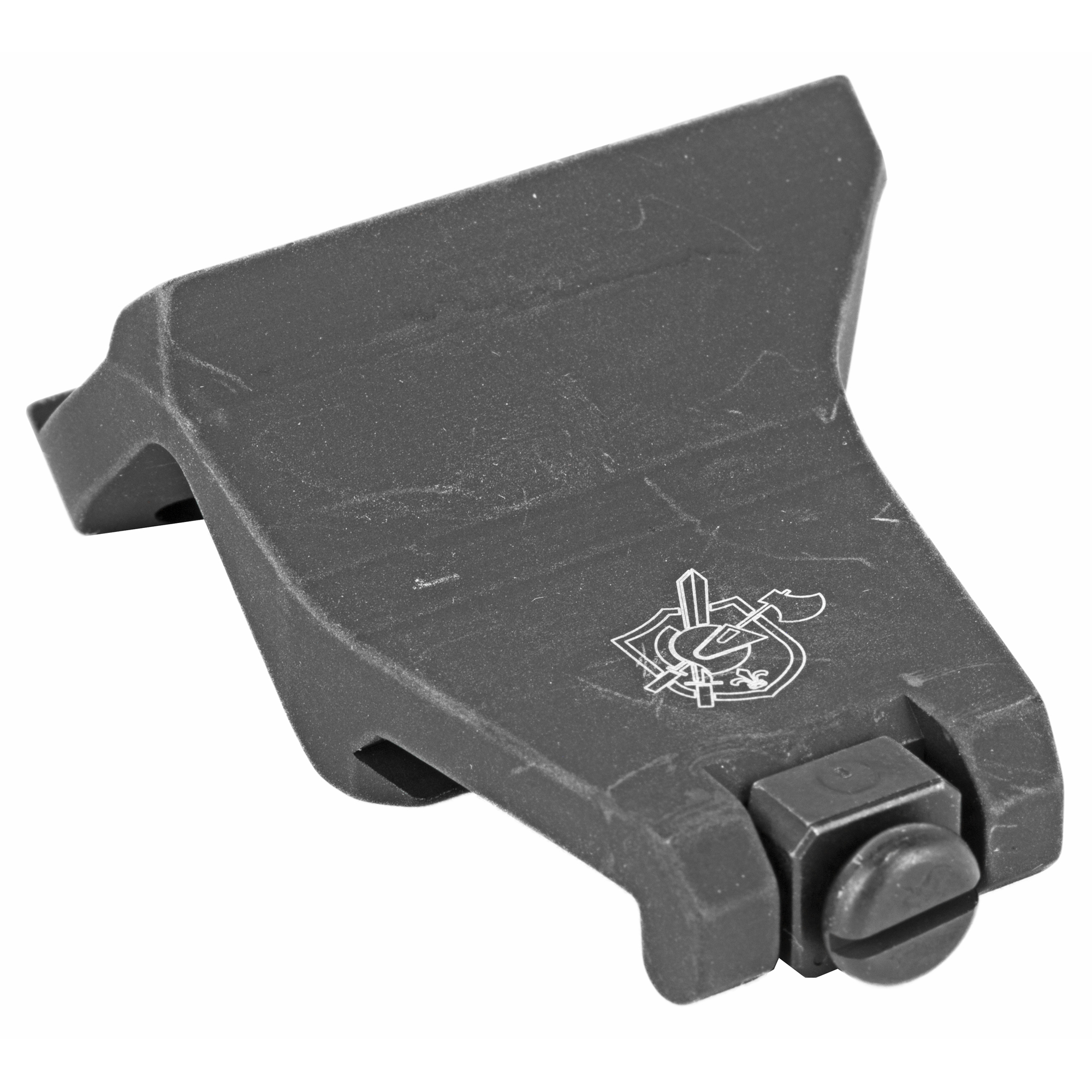 """The KAC 45 Degree Offset Aimpoint Micro Mount is intended to be attached to either the 3 o'clock or 9 o'clock rail position"""" placing the red dot to the side of a primary optic at a 45-degree angle. A quick roll of the rifle is all that's required for the shooter to acquire a useable sight picture through the red dot for close range engagements. Compatible with both T-1"""" T-2 H-1 and H-2 Aimpoint Micro optics. Aimpoint not included."""