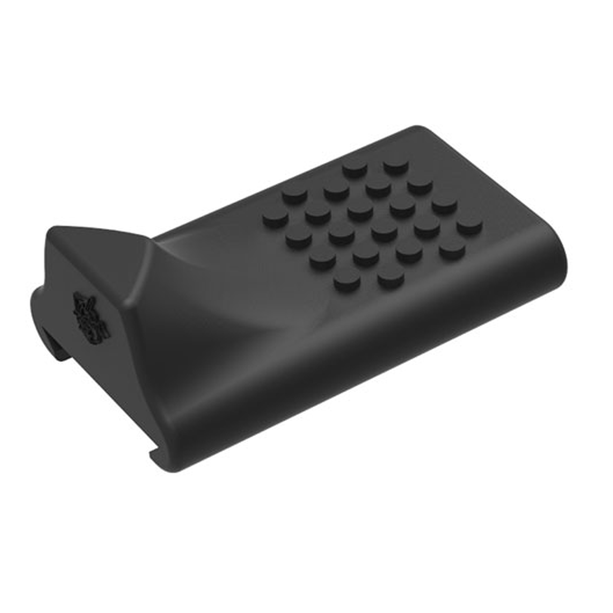 Knights Armament Co.'s Top Rail Rubber Thumb Rest features an elevated stop and textured grip to accommodate an isosceles shooting stance. Designed to be installed on a MIL-STD-1913 top rail.