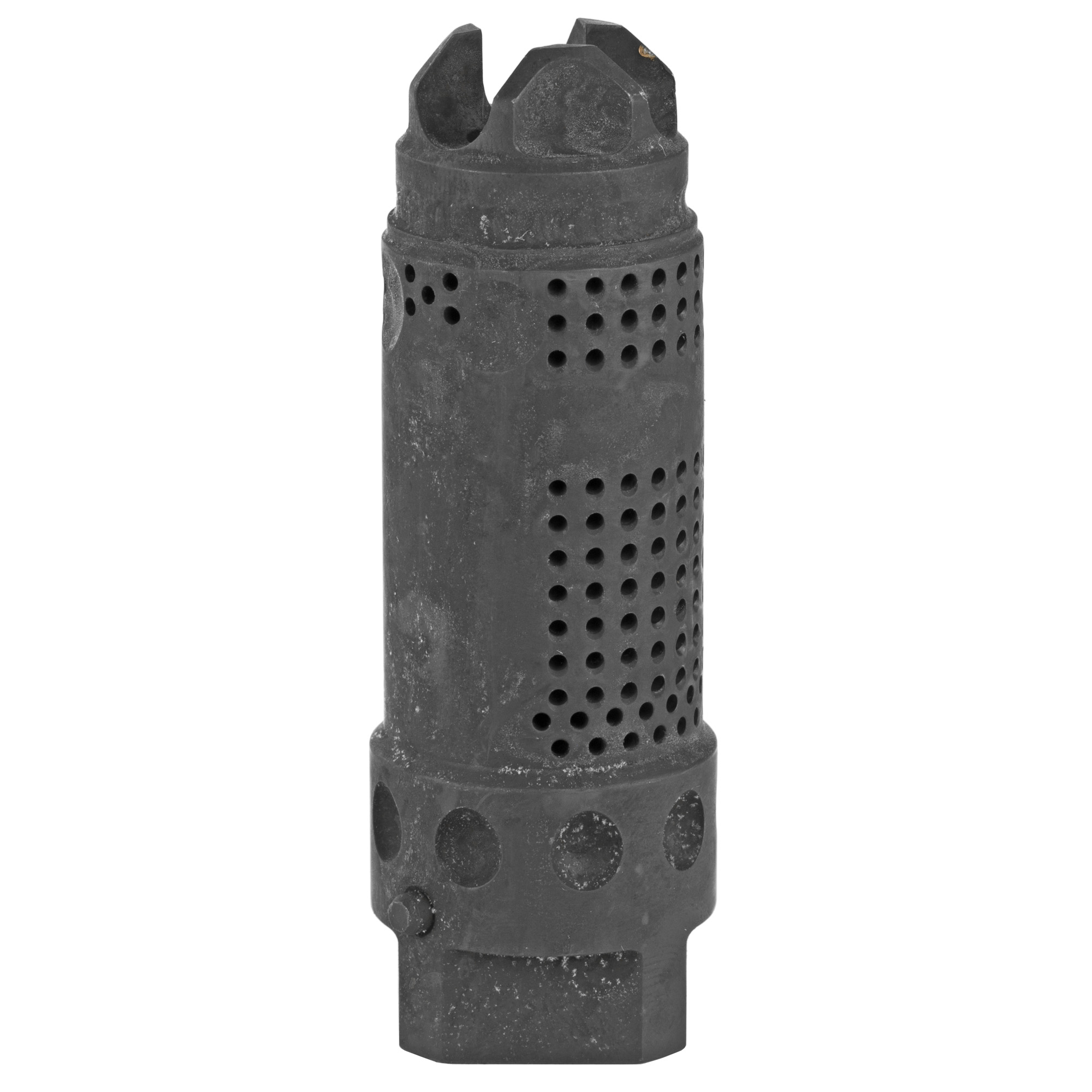 """The KAC 7.62 MAMS (Multi-Axis Muzzle Stability) Brake has been engineered to increase controllability"""" to significantly reduce felt recoil"""" and to help mitigate a rifle's flash signature as compared to traditional muzzle brake designs. The MAMS is a neutral bias brake that combats both muzzle rise and drift upon firing. Depending on the gun's barrel length"""" it can reduce felt recoil in a 7.62x51mm gun by as much as 52 percent. The 7.62 MAMS is compatible with KAC's Quick Disconnect Coupling (QDC) 7.62mm sound suppressor line"""" and comes complete with a 7-piece shim kit and installation instructions."""