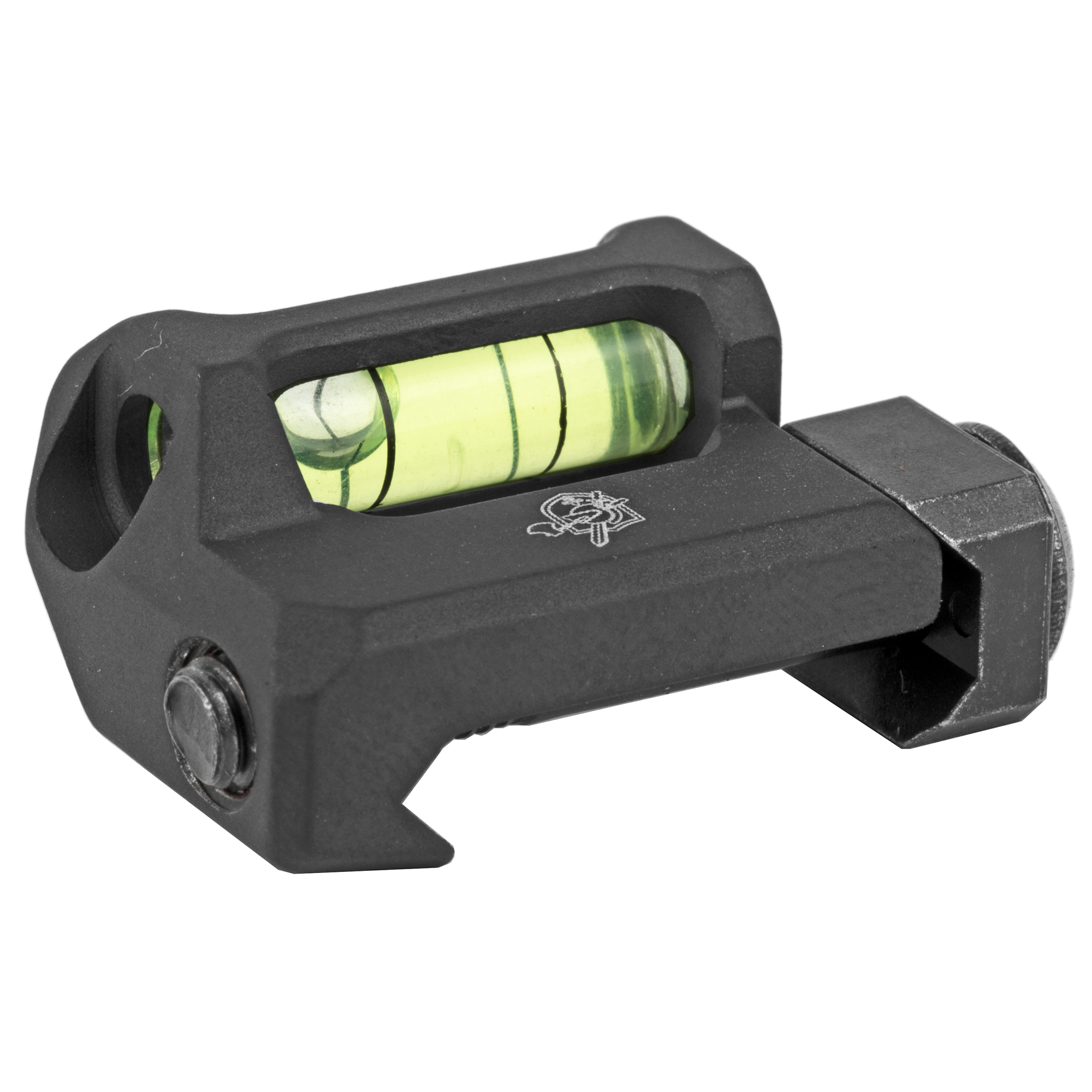 """The KAC Rail Mounted Anti-Cant Device is a simple"""" low profile tool that helps precision shooters ensure that their rifle is level before breaking a shot. It incorporates a small bubble level into an aluminum base that sits low enough to permit its use under most optics. Attaches to any M1913 Picatinny rail surface via a screw and clamp arrangement."""