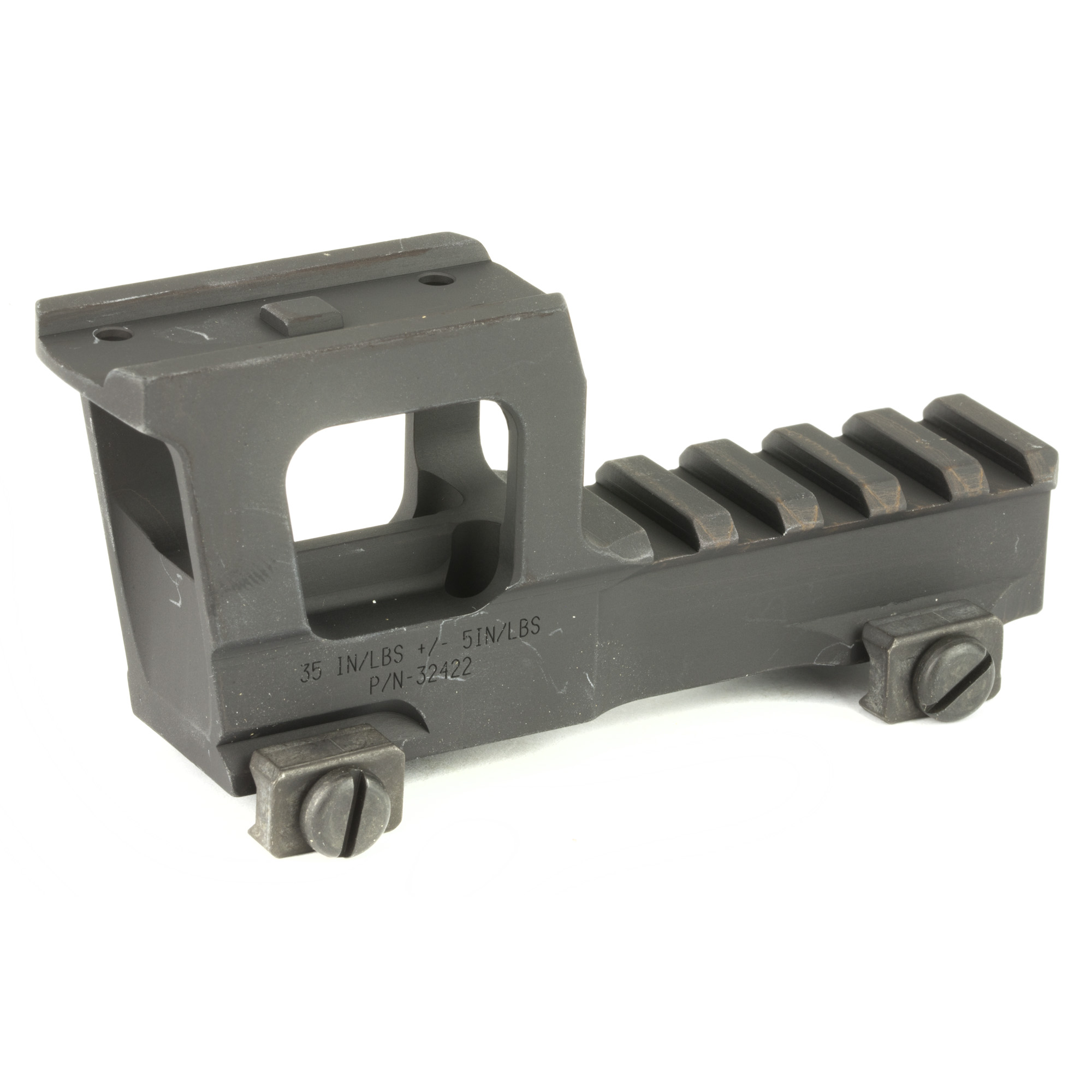 """Aimpoint Micro NVG High Rise Mount by lifting the optic up higher you can clear lights"""" lasers and any other items that can obstruct your sight picture. With Knights' new Aimpoint Micro NVG mount"""" they push the boundaries further than before. With a height of 2.33"""" from the top of your 1913 pic rail to the center point of your optic"""" you now have the ability to see your irons through the mount."""