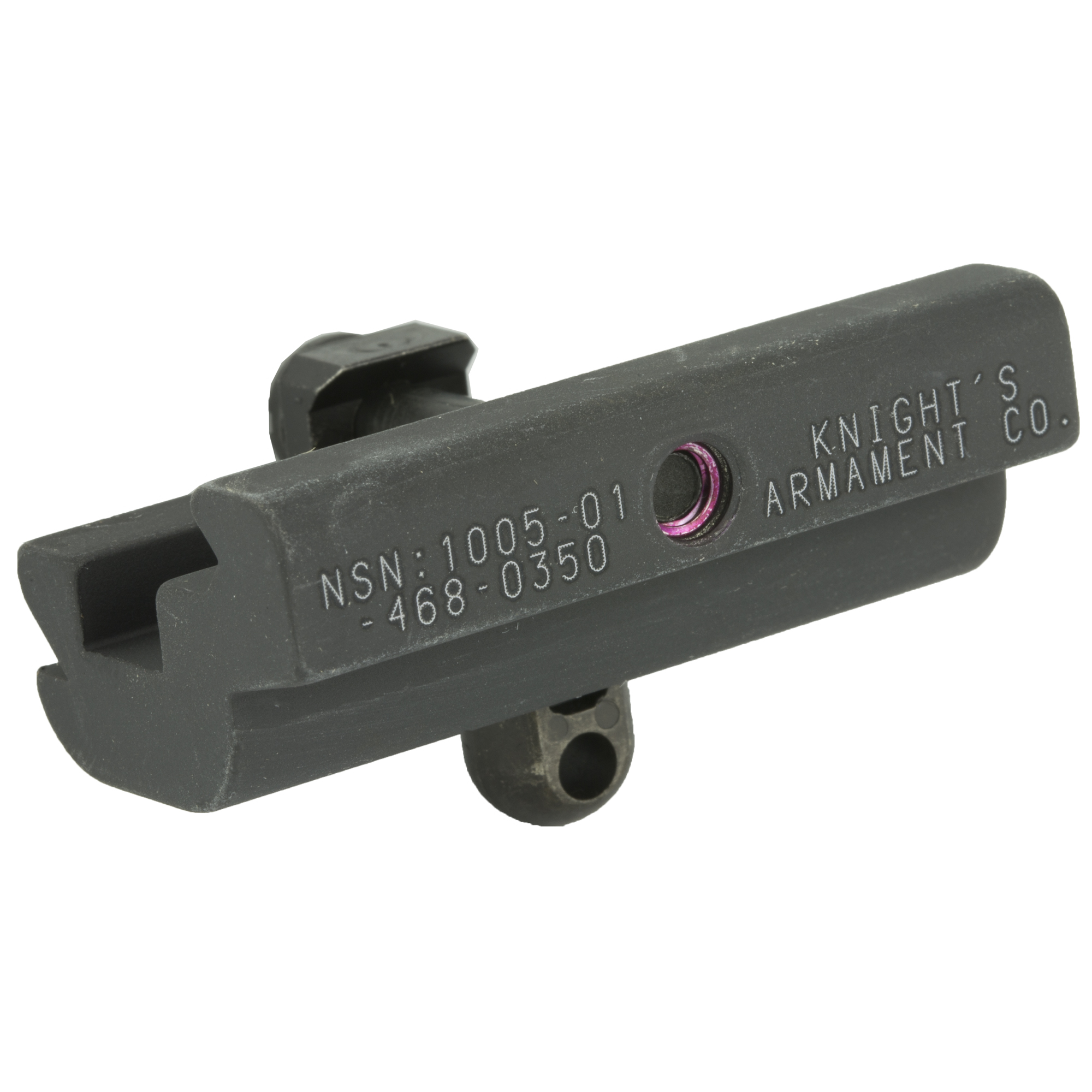 Knights Armament Co.'s MWS Bipod Adapter with QD stud fits any MIL-STD 1913 rail. Designed for installation on the lower rail.