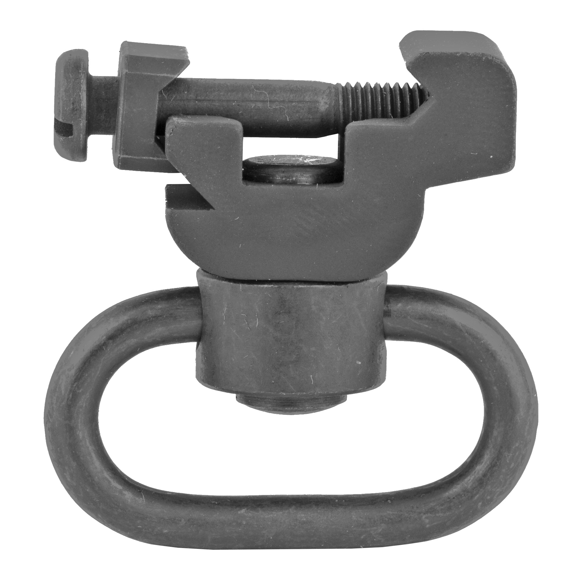 Push button sling swivel mount that fits any MIL-STD-1913 rail to allow for optimal operator customization.