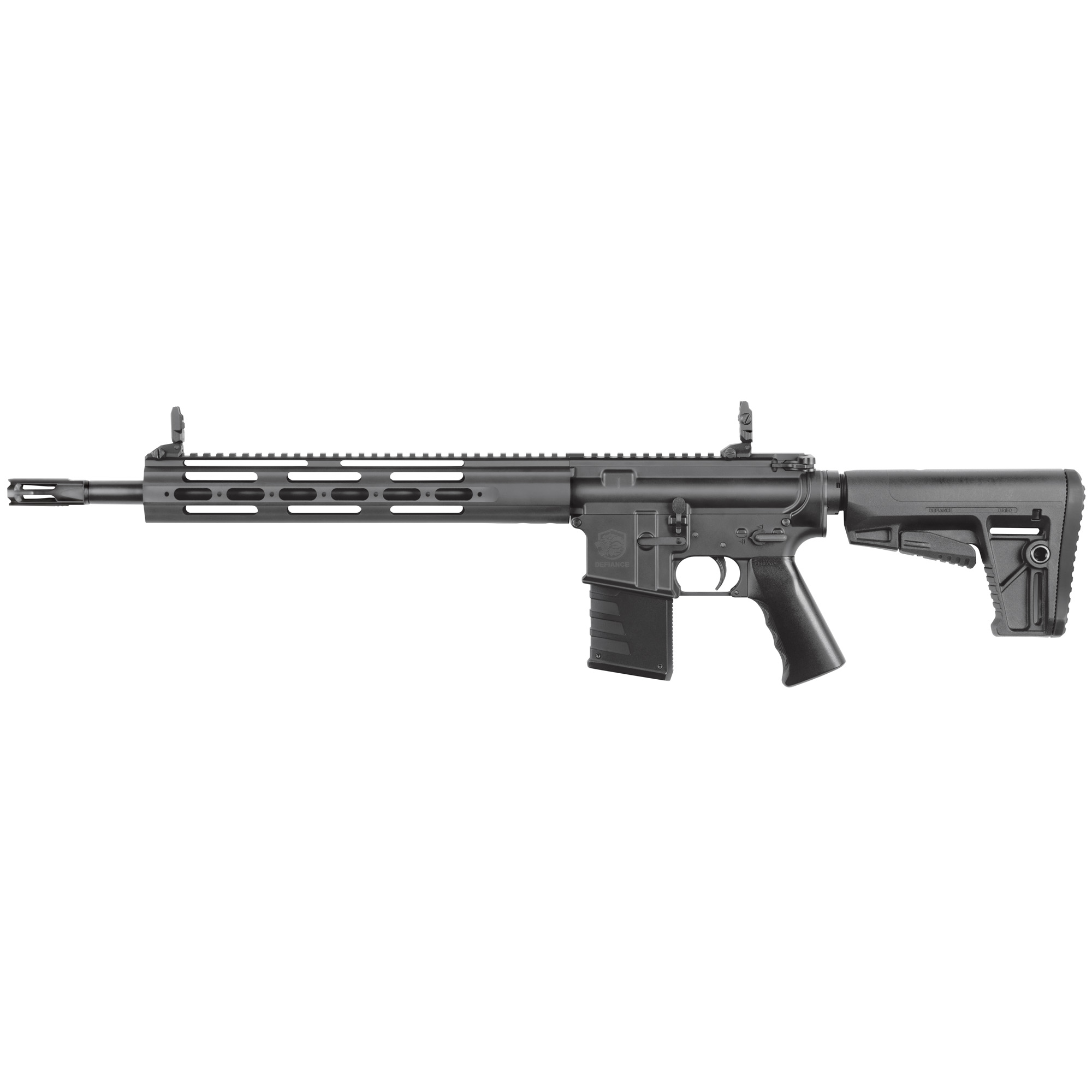 """Designed as the ultimate AR training platform"""" the DMK22 features a true last round bolt lock feature. The patented barrel adapter allows for the installation of currently available aftermarket Ruger(R) 10/22 .22lr barrels."""