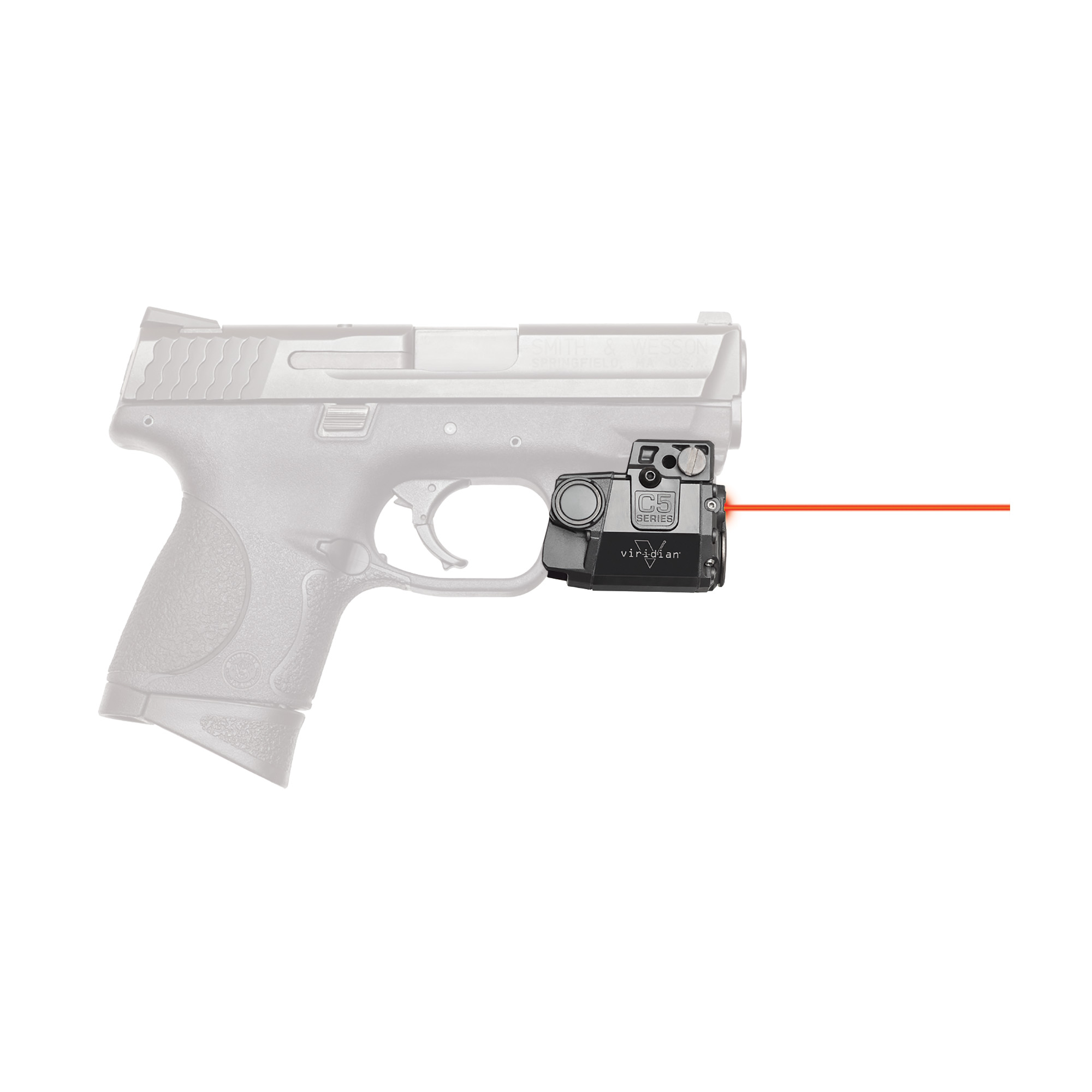 "The Viridian C5-R red laser sight is so tiny"" it tucks neatly between trigger guard and muzzle"" with no overhang"" and will work with virtually any railed gun. This C5-R features the brightest red laser allowed by law with multiple modes of operation and easy windage/elevation adjustment. Viridian's C5-R is equipped with INSTANT-ON(R) activation. When paired with a TacLoc holster (sold separately)"" you can ignite your green laser and tactical light instantly when you draw your weapon. When you draw it's on. The C5L features a 500 lumen tactical light with CREE LED in constant and strobe modes. It comes standard with RADIANCE(R) taclight technology"" which expands light into a wider beam"" revealing over twice the horizontal area of conventional tactical lights. With no wasted light above or below your target area"" you get a better picture"" faster discovery"" smoother tracking and more positive targeting than any other weapon-mounted tool."