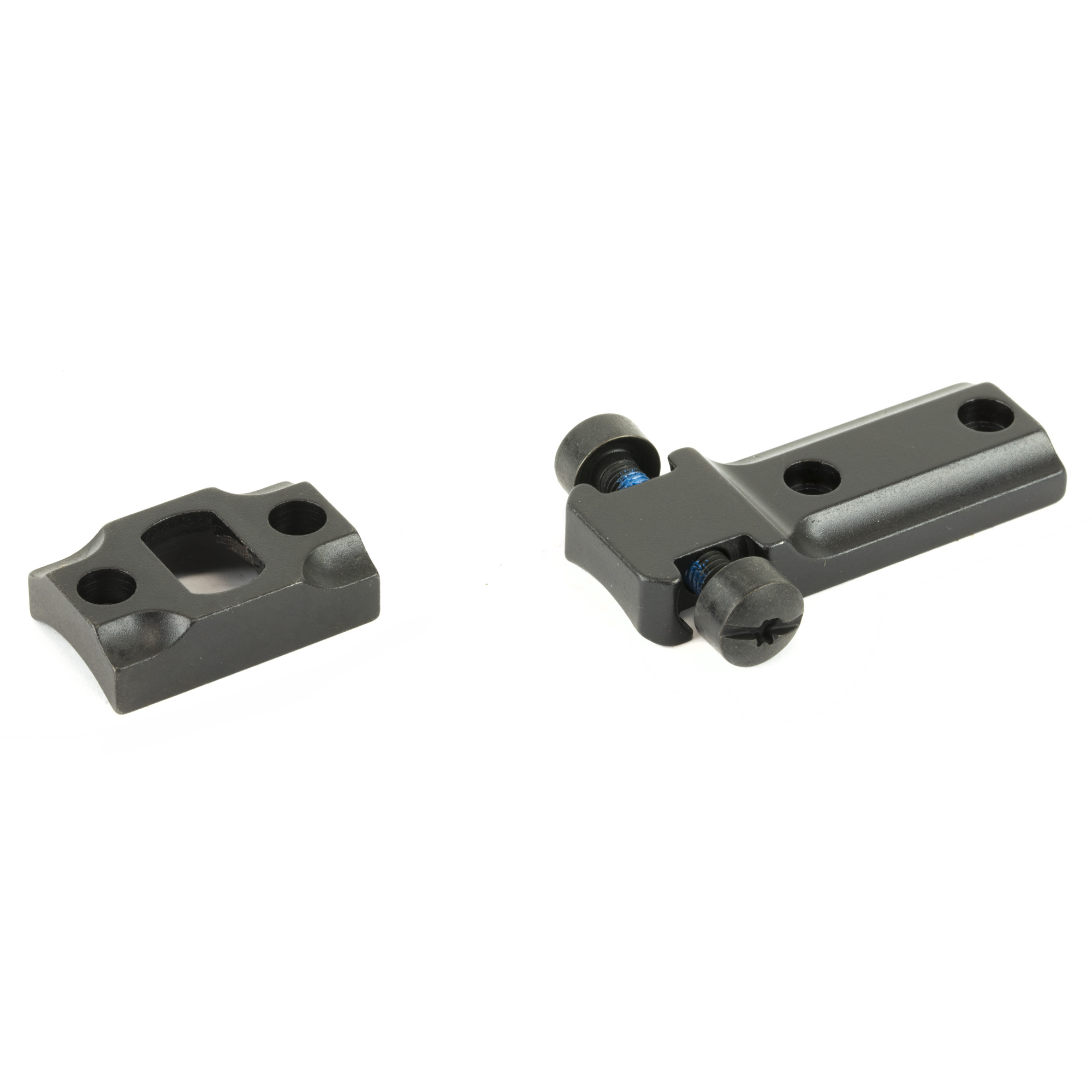 Standard Ruger American 2 piece base mounts made by Leupold.