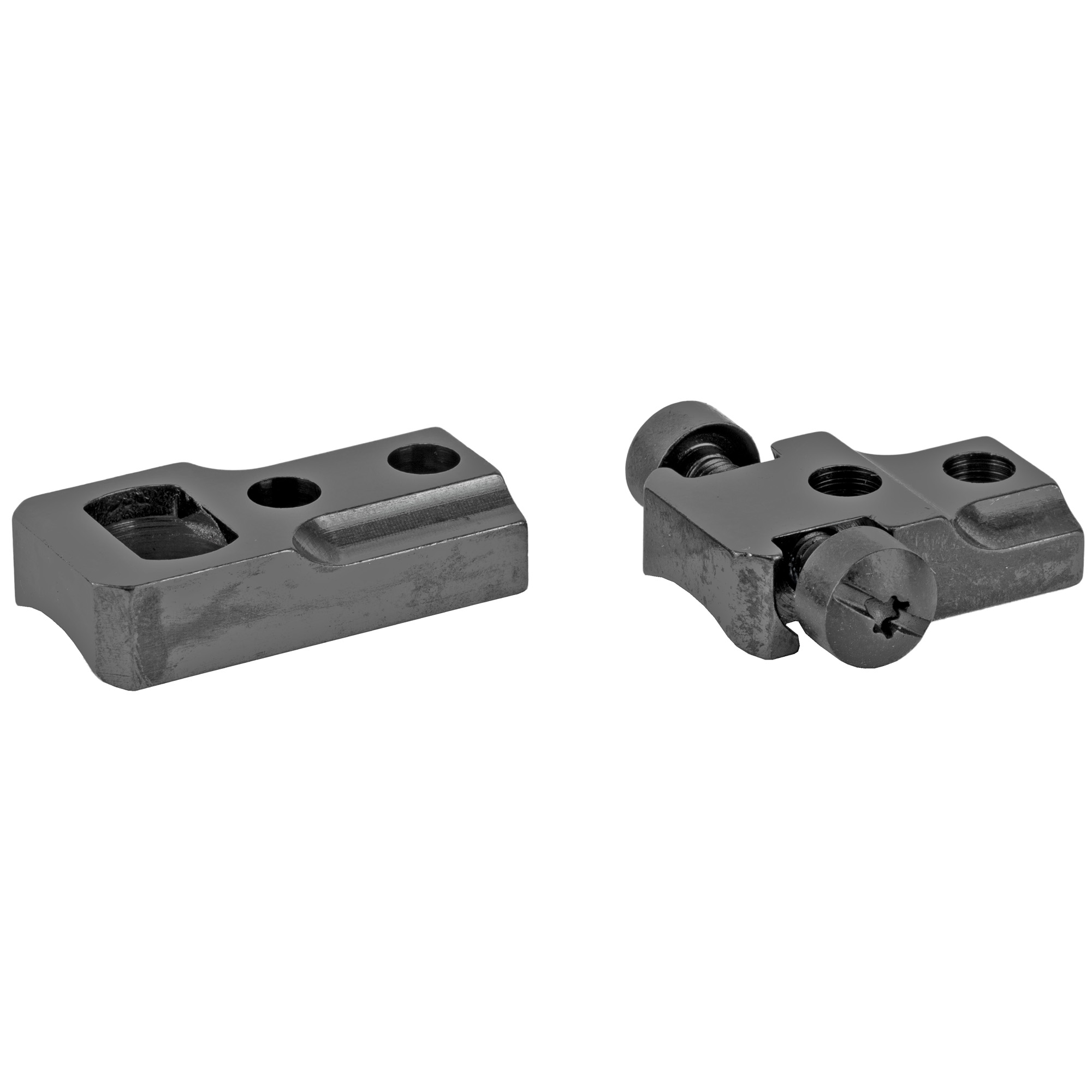 "The Leupold steel standard bases and rings are the most versatile of any mounting system they offer. The rear ring is secured by windage adjustment screws"" allowing the scope's internal adjustments to be reserved for precise sight-in. Additionally"" shims can be used for gross elevation adjustment"" reserving the scope's elevation adjustment for bullet drop compensation dial applications."