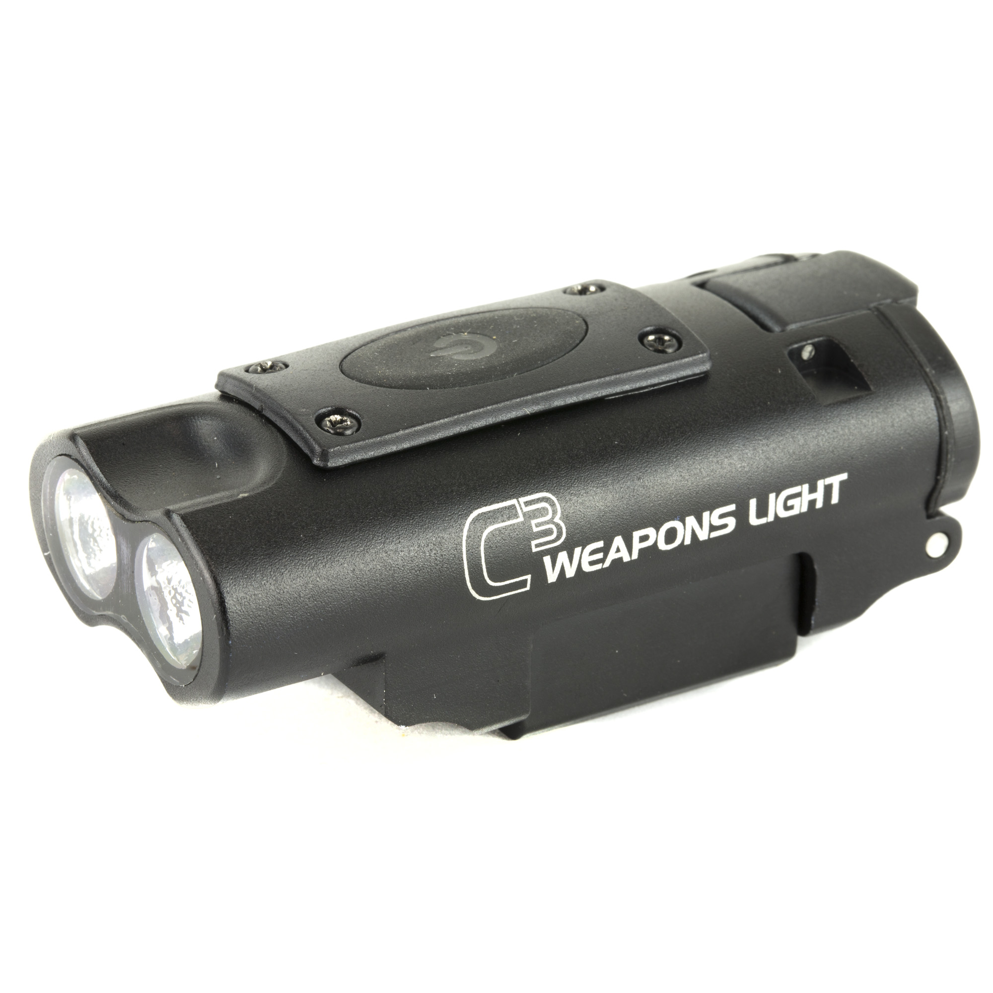 "The C3 Weapons light from LUCID Optics was born from a desire to push back against the darkness and manage things that may go bump in the night. LUCID overbuilt this little unit in a 6061 aluminum housing"" making it waterproof and shockproof up to .458SOCOM"" because we know how gentle our customers treat their gear. This super durable and shockingly powerful torch at 300 LUMENS is guaranteed to shed light on the situation"" so you can make a good decision on threat management. Specifically designed from the ground up"" for use on a carbine"" under the consult of those who hunt bad guys for a living"" not by a suit in a high rise building. This low profile torch has a simple on off pressure switch function for hands free operation and a highly disorienting strobe with near seizure causing function"" with a simple press and hold of the switch. Powered by (3) AAA batteries that you can find nearly anywhere. Simple"" Durable and exceeding expectations"" with a run time of just over 3 hours of continual use. Considering the high value and super affordable price point"" not to mention the Lifetime Warranty"" this is truly a weapons light"" done right"
