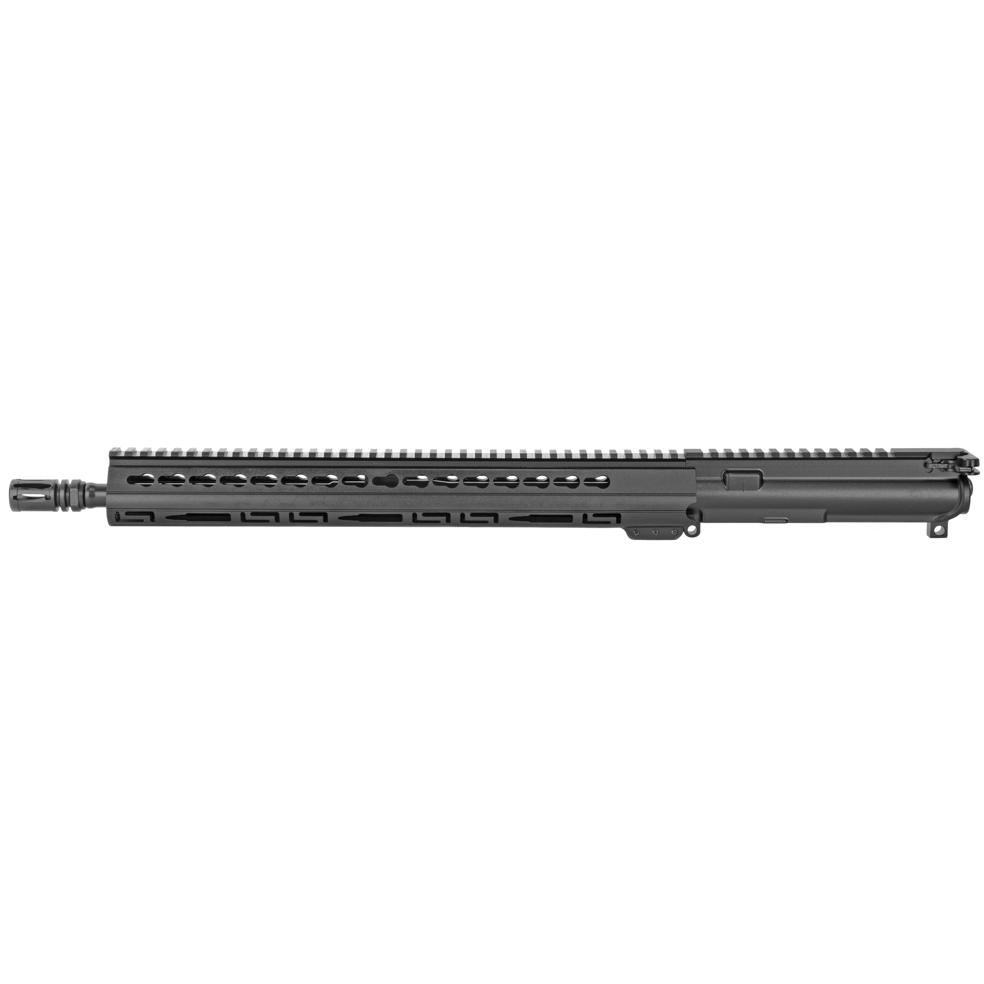 "The Luth-AR 16"" Lightweight Complete Upper Barrel Assembly Starts with a 16"""" 5.56mm Lightweight barrel made from 4140 Chrome Molly with a 1-9"" twist mated to a A3 Flattop receiver which includes a bolt carrier"" charging handle"" forward assist and ejection port cover. The upper is then topped off with a lo-profile gas system and an ergonomic 15"" Palm Handguard(R) with KeyMod slots and a Picatinny top-rail."